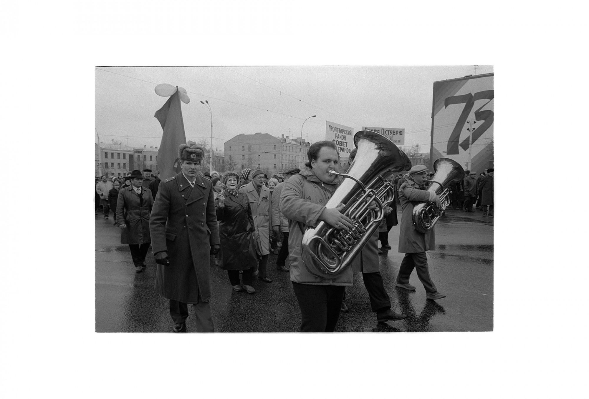 Afbeelding: Moskou 1990, Glasnost & Perestrojka, fotografie Dominique Van Huffel.