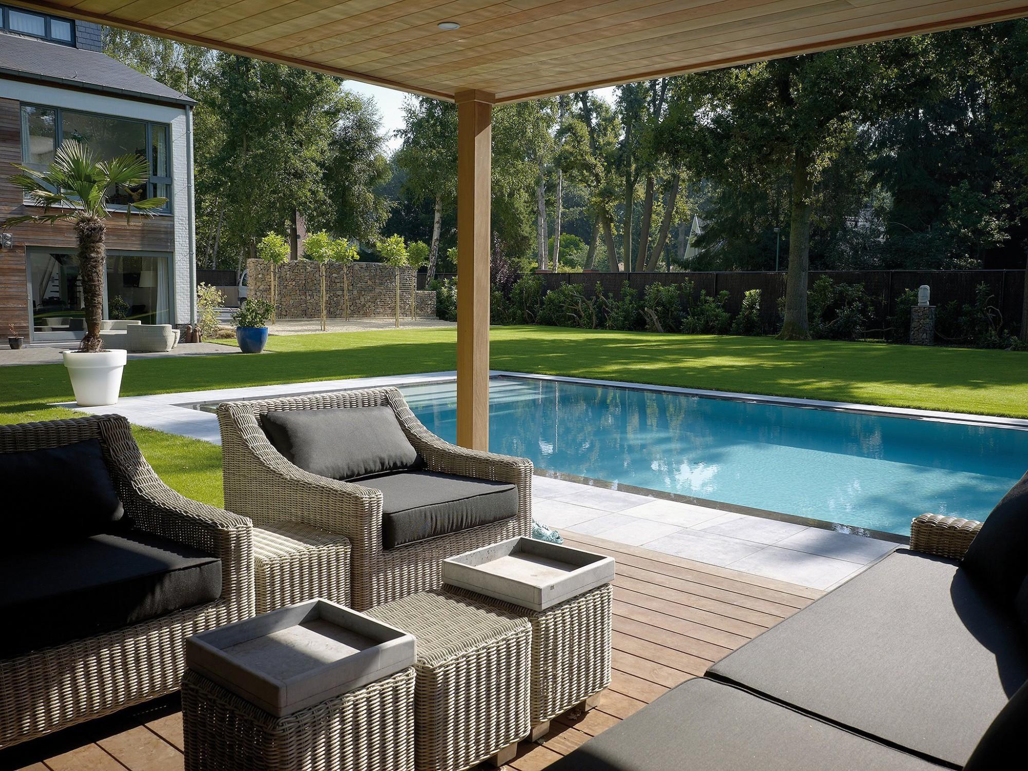Afbeelding: Fotografie zwembad te Schilde voor © Relaxzwembaden.