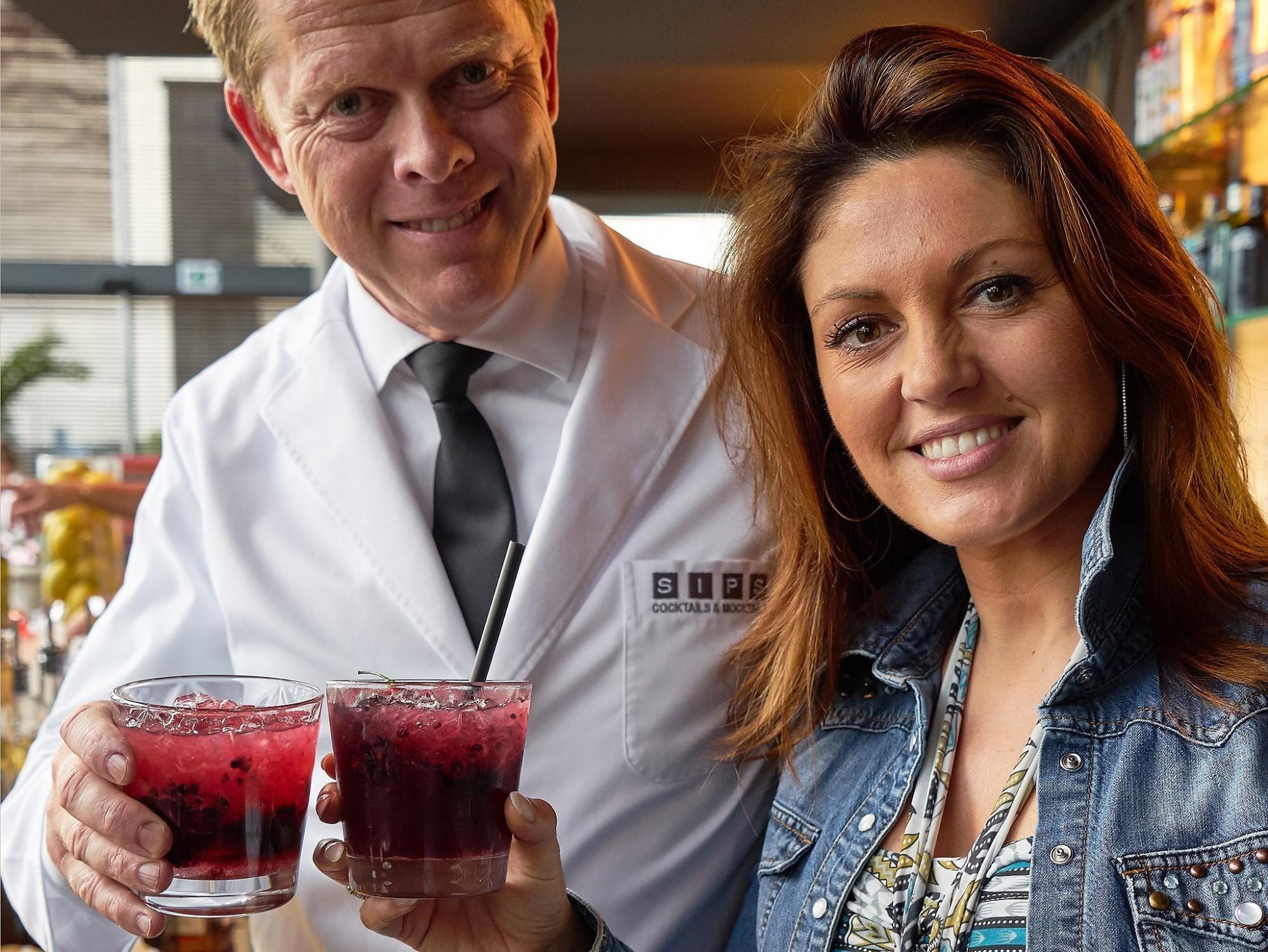 Afbeelding: Voorstelling cocktail Belle Pérez in Link 21 voor groep Heylen.