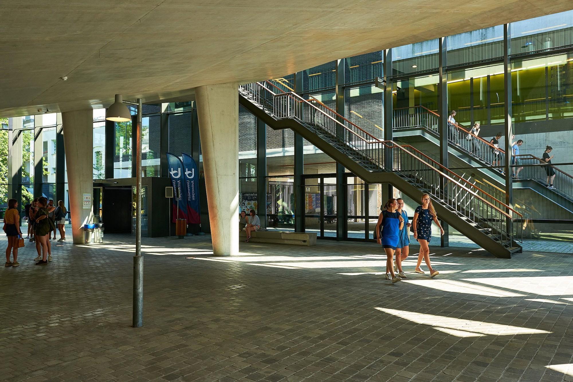 Afbeelding: Infrastructuurwerken universiteit Antwerpen, door DCA, landschapsfotografie foto Van Huffel.