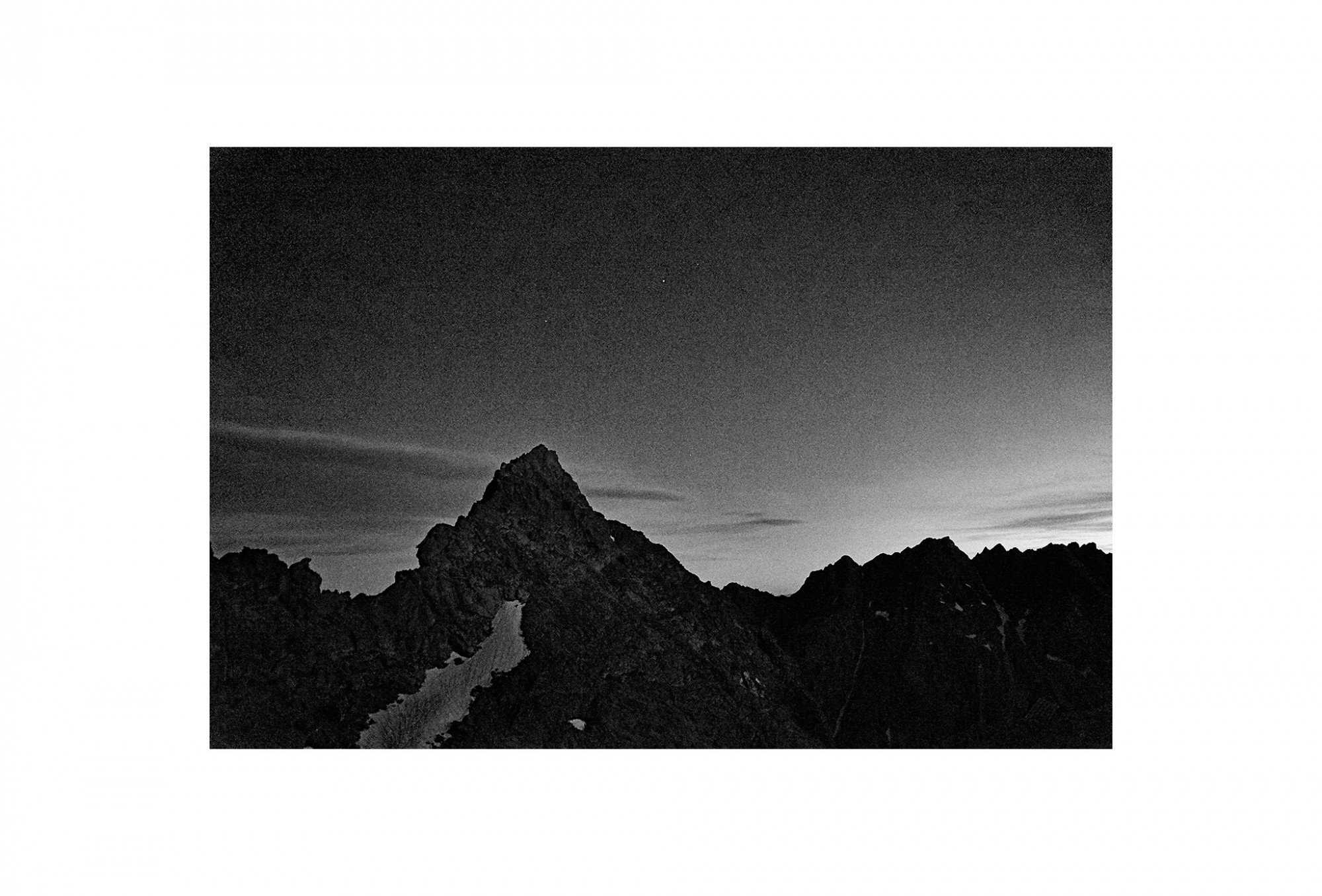 Afbeelding: Landscape high Tatras mountains Slovakia, foto Van Huffel, foto kunst zwart wit, landschapsfotografie.