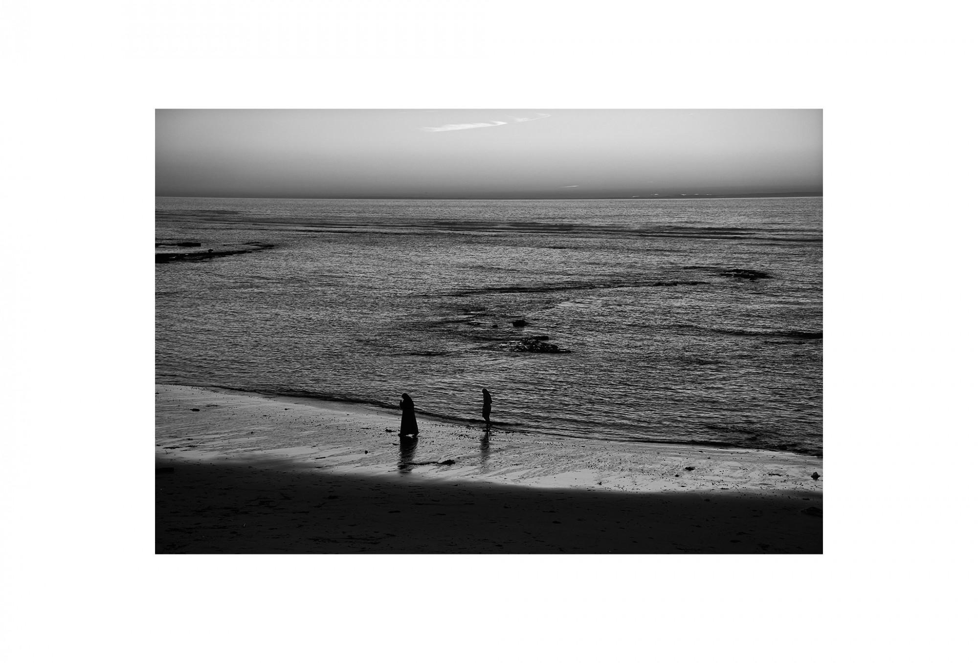 Afbeelding: Landscape Asilah, Marocco, © Dominique Van Huffel, foto kunst zwart wit, landschapsfotografie.