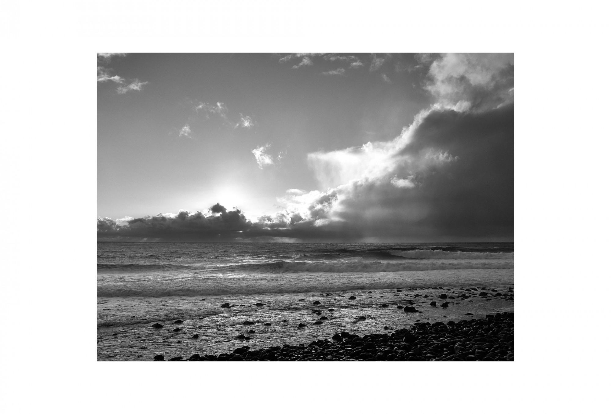 Afbeelding: Landscape Madeira, Portugal, © Dominique Van Huffel, foto kunst zwart wit, landschapsfotografie.
