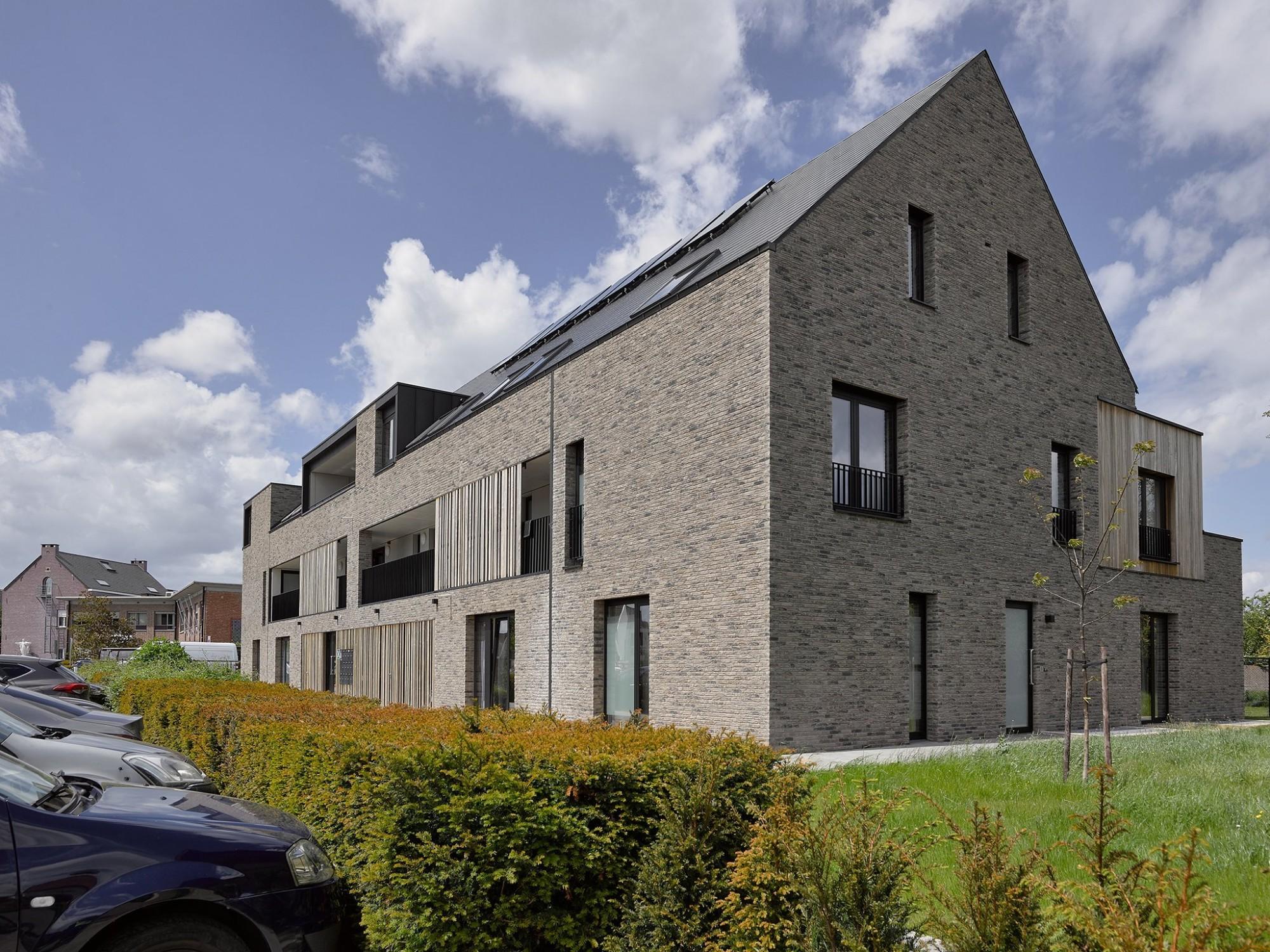Afbeelding: Sociale appartementen Herent, voor © atelier M Architects + Planners.