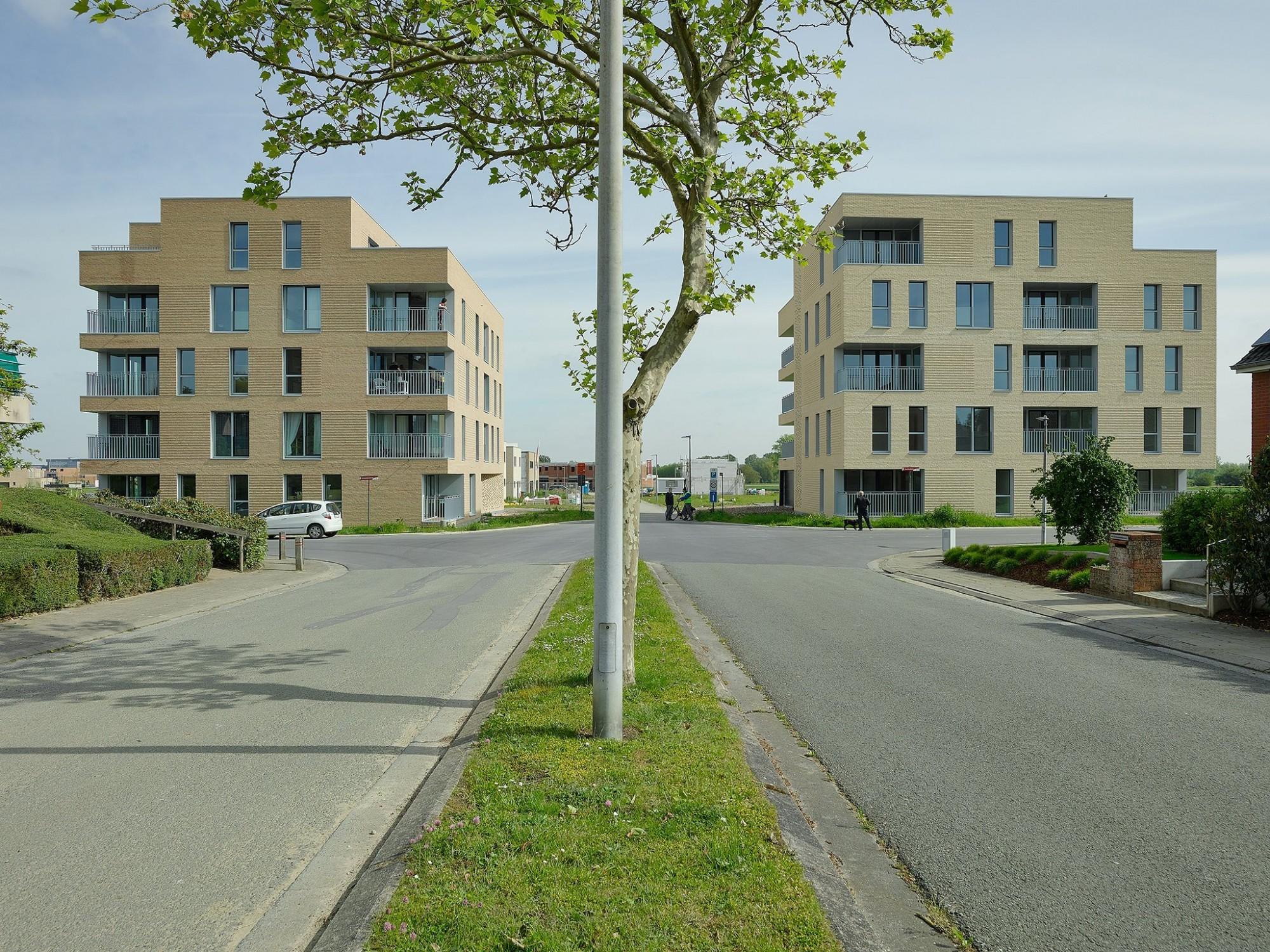 Afbeelding: Sociale appartementen Ieper, voor © atelier M Architects + Planners.