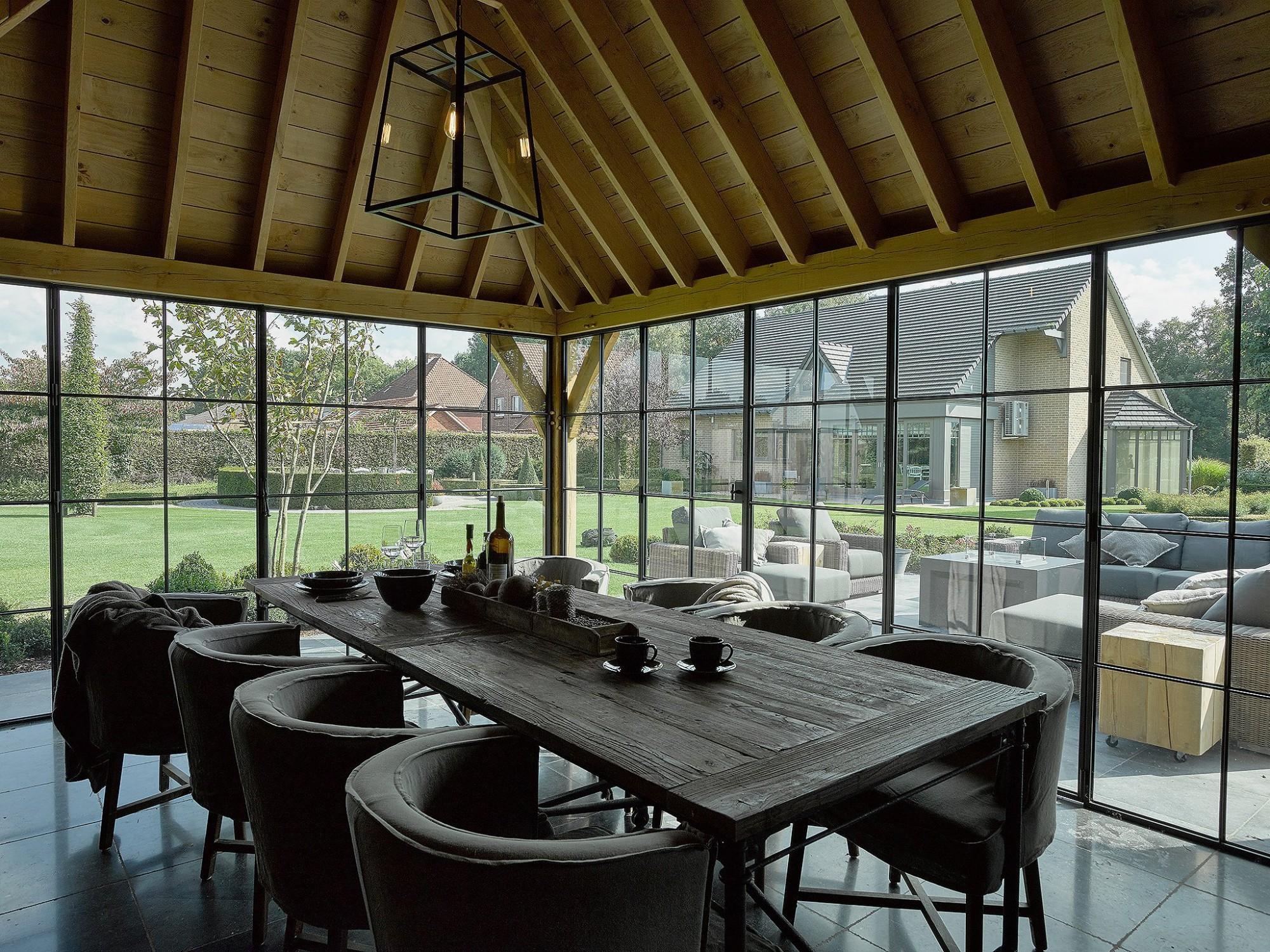 Afbeelding: Fotografie interieur eiken bijgebouw te Maaseik voor © De Boomkamer.