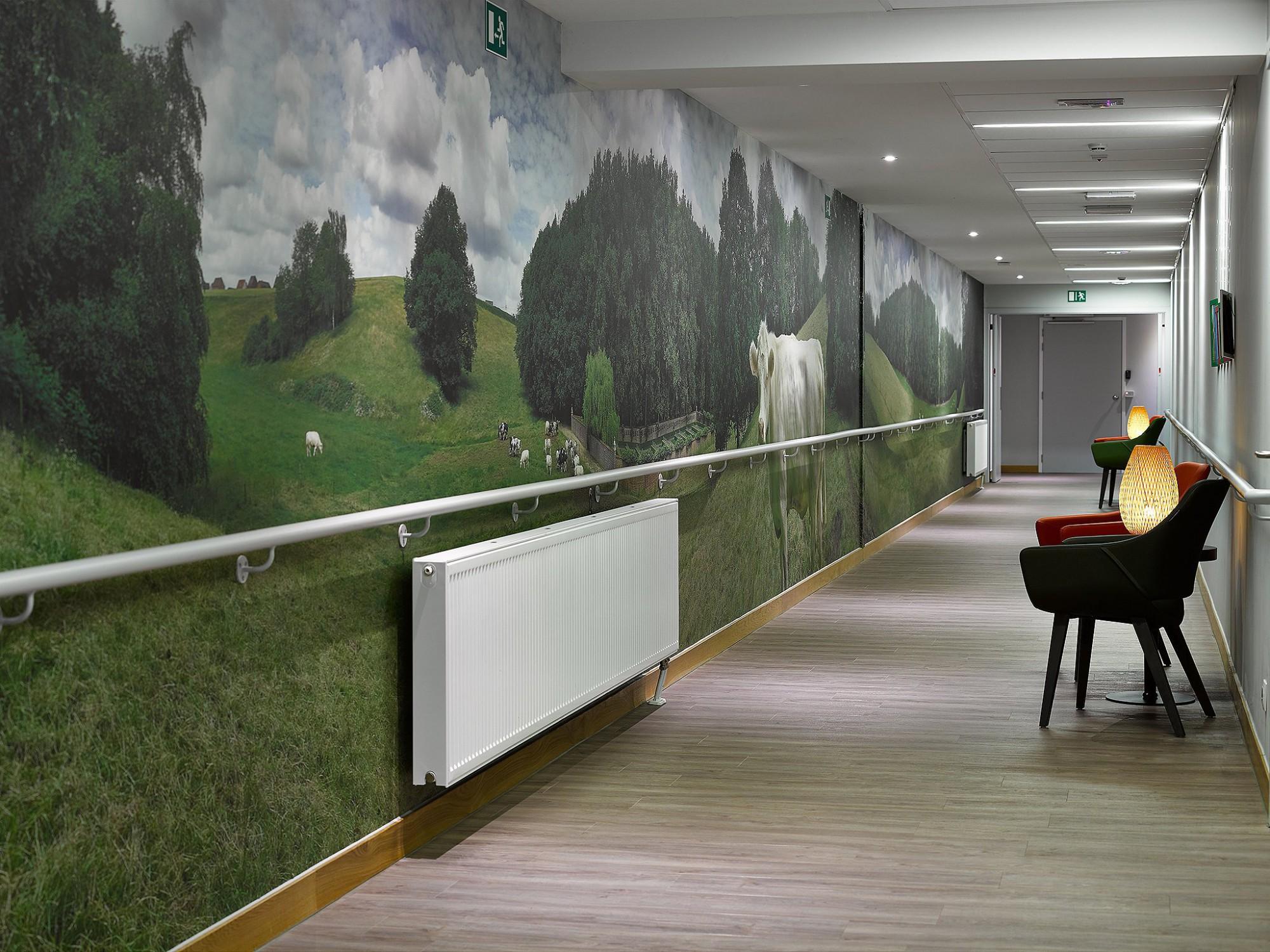 Afbeelding: Realisatie van een panoramische foto van 29 x 2,5 meter voor het tkeyhof te Huldenberg.