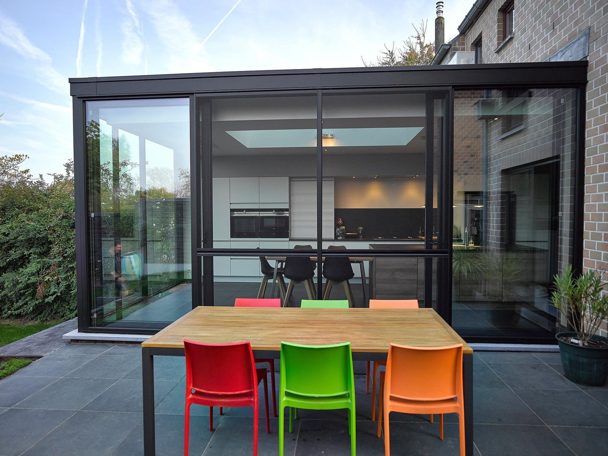 Afbeelding: Fotografie veranda Herent voor Aldera - Miniflat.