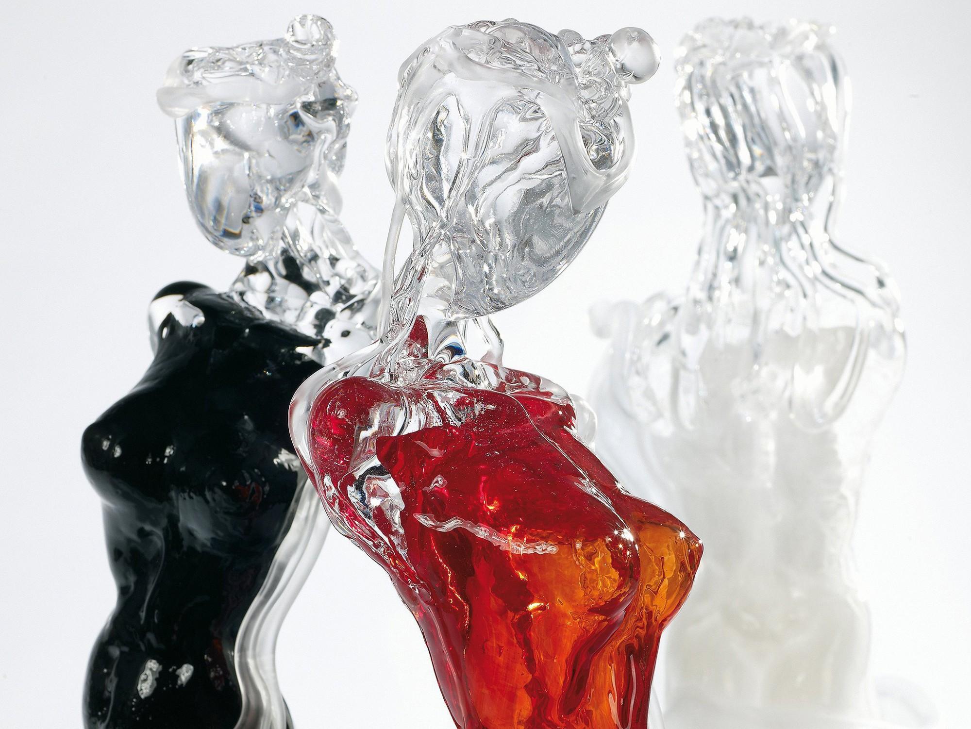 Afbeelding: Studio fotografie sfeer, glas sculpturen voor DV/D'sign.