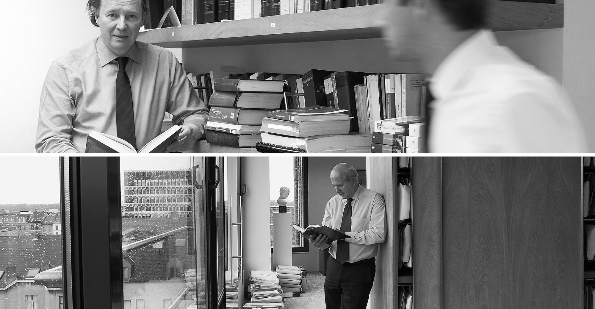 Afbeelding: Profielfoto advocatenbureau Antwerpen, in panoramische vieuw op kantoor.