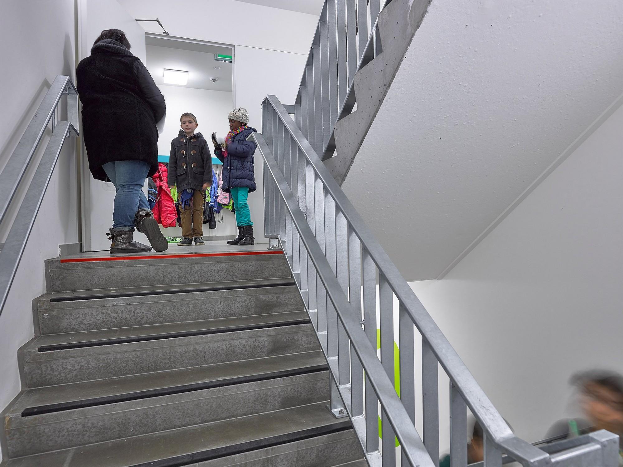 Afbeelding: Fotografie school te Etterbeek, voor atelier M Architects + Planners.