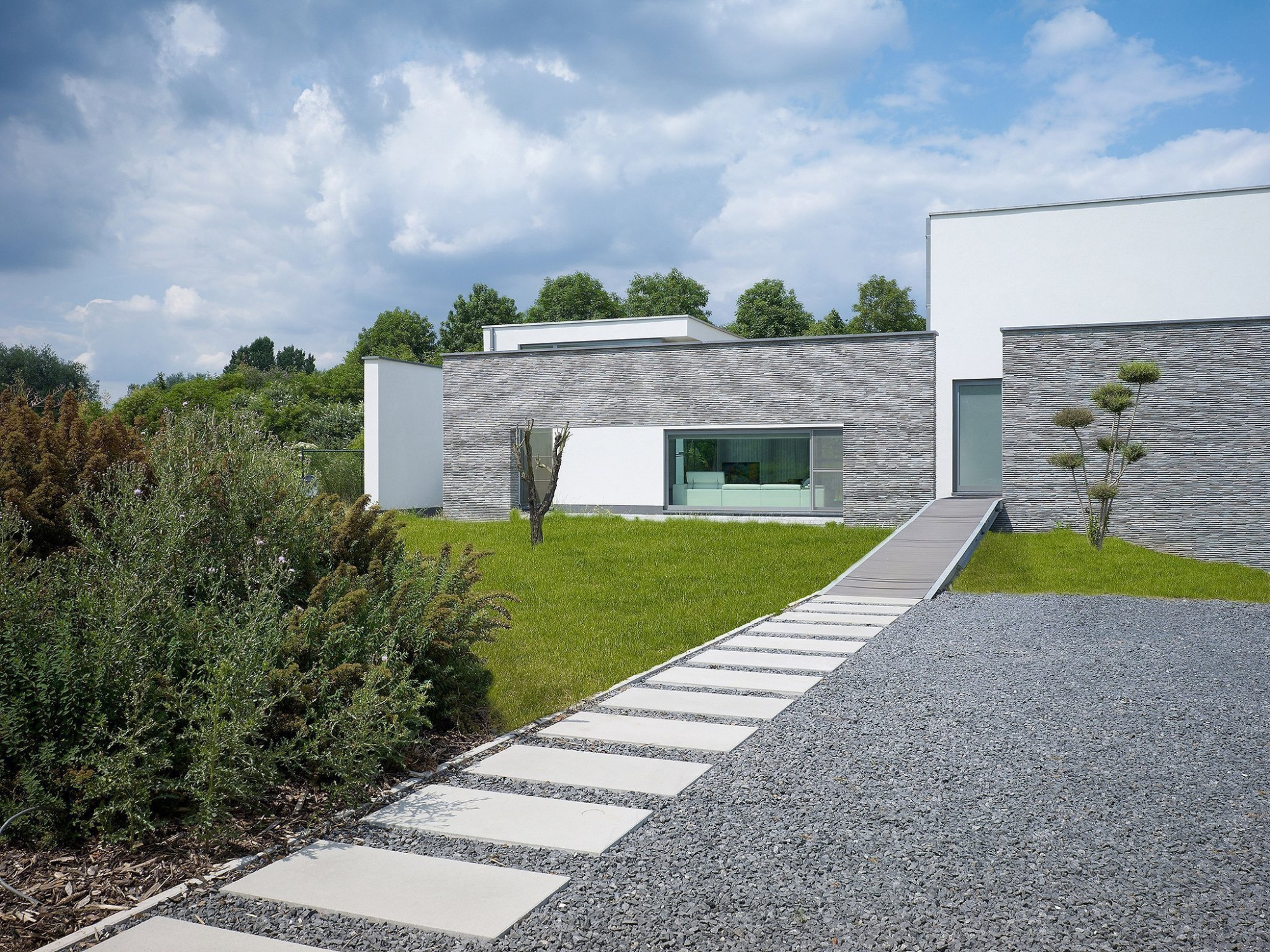 Afbeelding: Architectuur fotografie, woning Lanaken, voor Stone&Style, megategels.