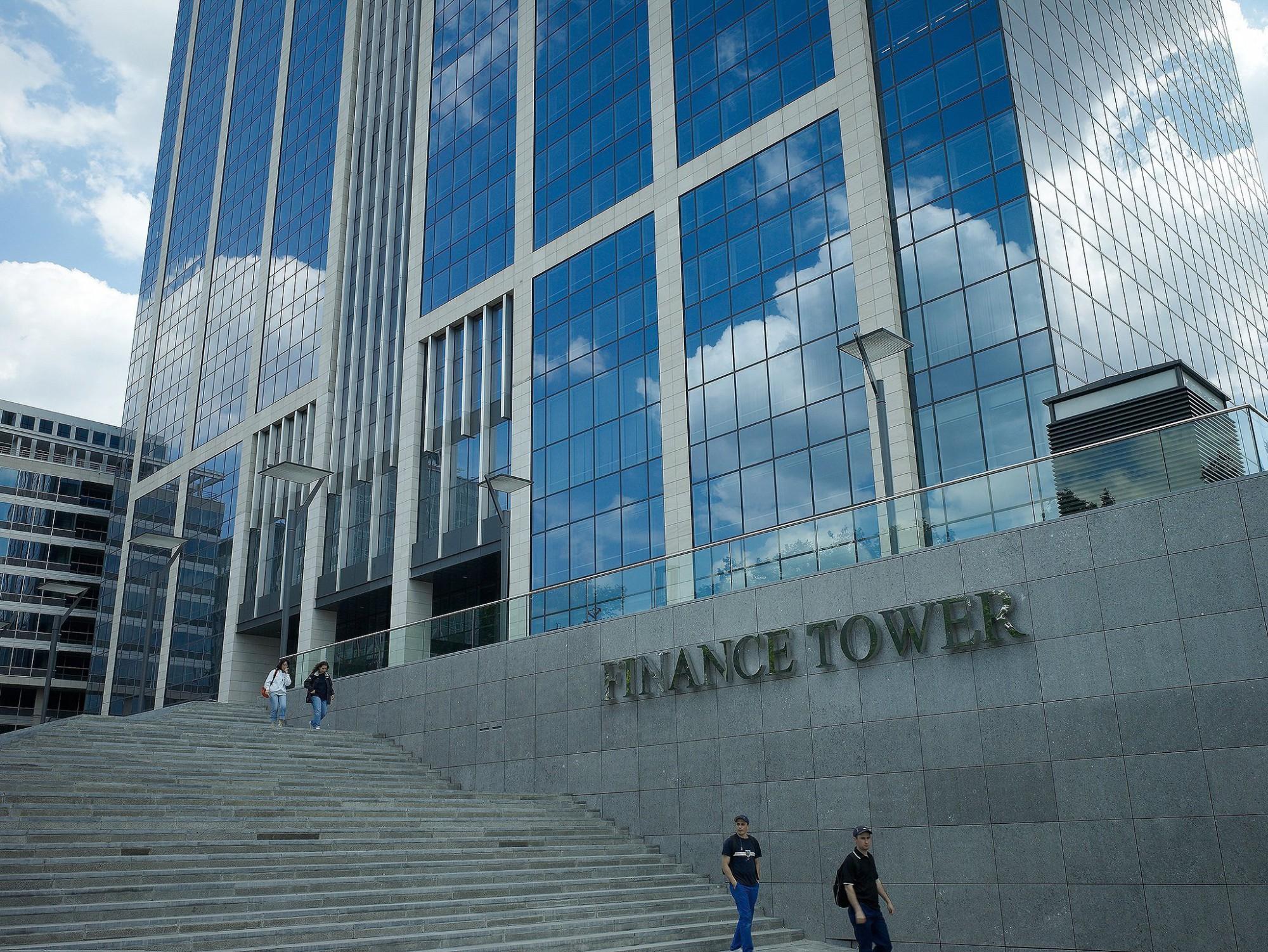 Afbeelding: Architectuur fotografie, financietoren Brussel, voor Eribel, door architectuurfotograaf Foto Van Huffel.