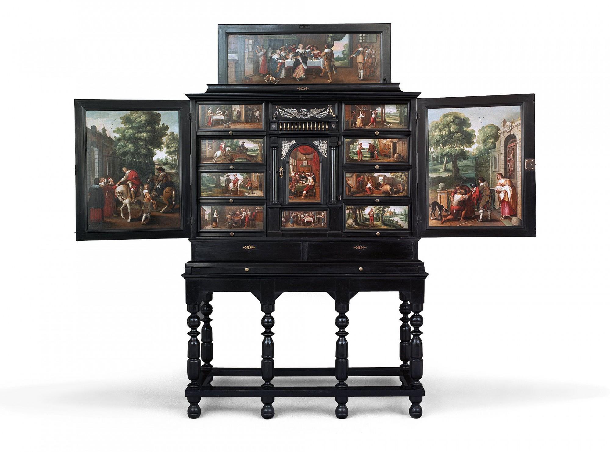 Afbeelding: Fotografie oude kunst, kabinetten met fijn schilderkunst, studio op locatie.