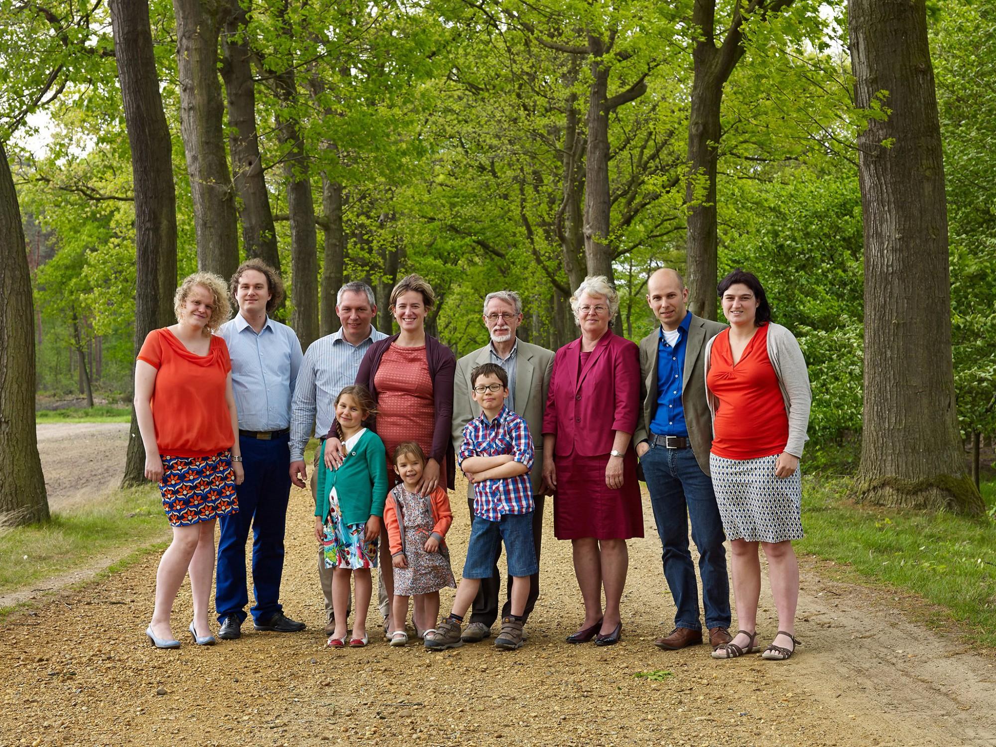Afbeelding: Familie foto op locatie, foto Van Huffel.