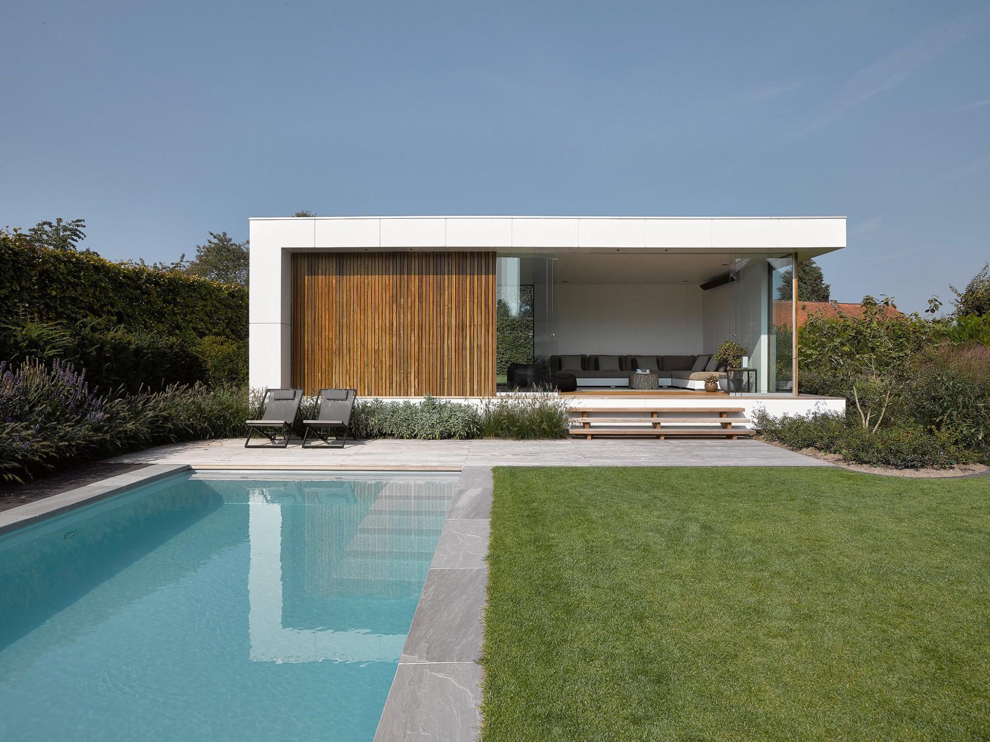 Afbeelding: Fotografie moderne tuinkamer te Meeuwen voor © de Boomkamer.