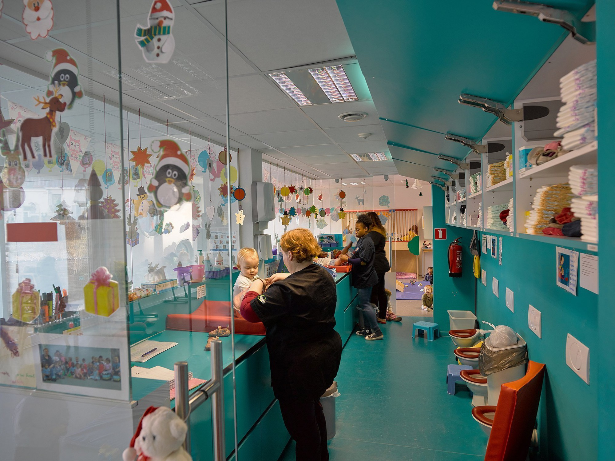 Afbeelding: Fotografie kinderdagverblijf te Etterbeek, voor atelier M Architects + Planners.