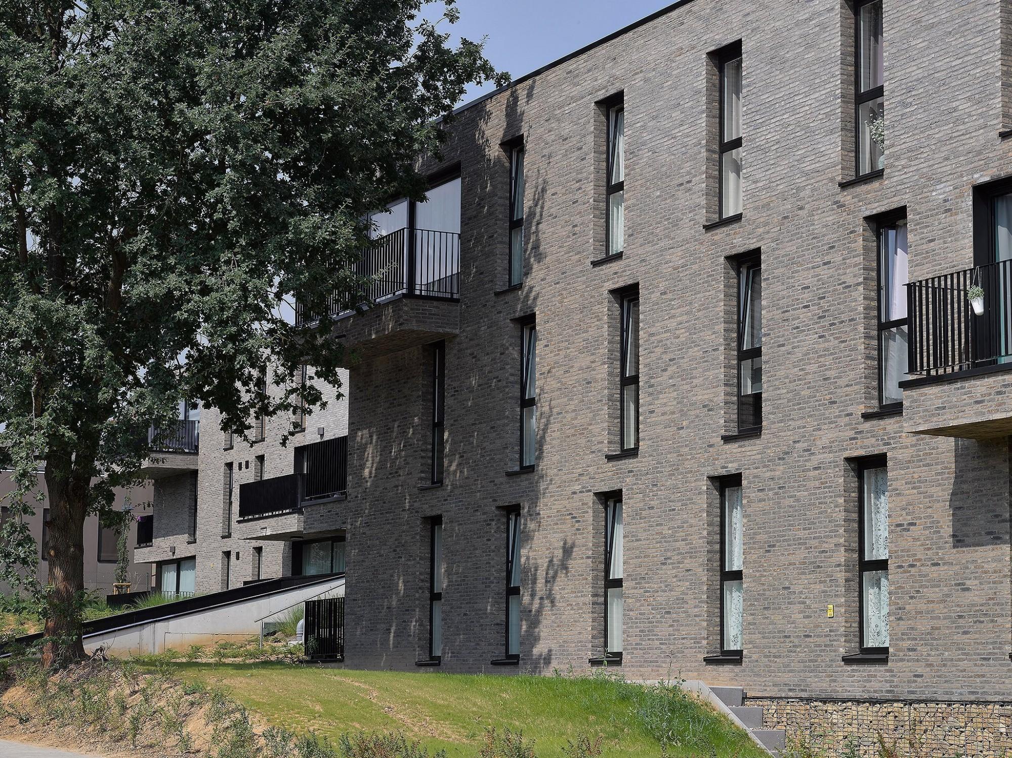 Afbeelding: Architectuur fotografie Foto Van Huffel, appartementen Overijse, voor atelier M Architects + Planners.