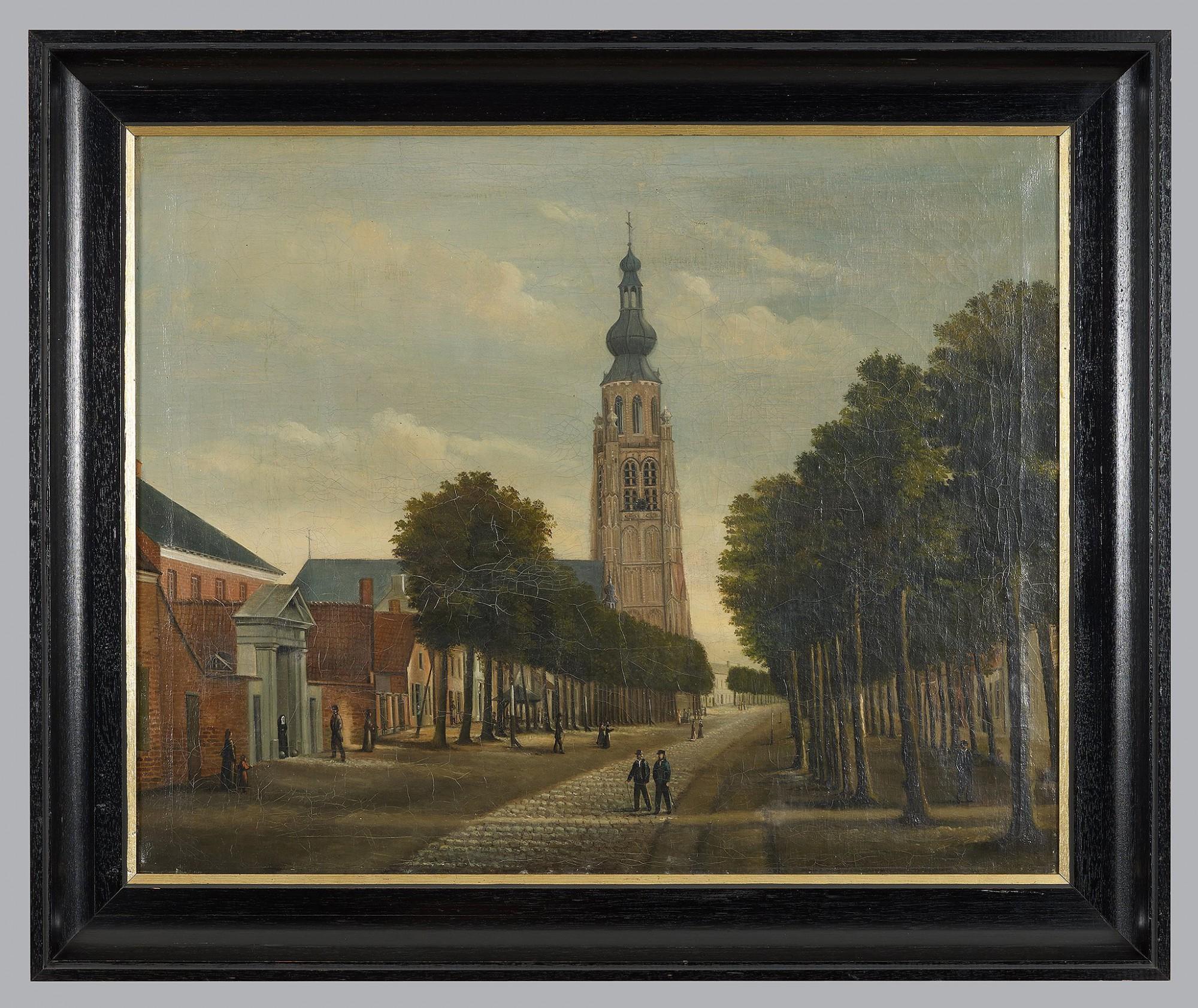 Afbeelding: Reproductie van schilderijen met gekalibreerd kunstlicht op locatie, voor VVV Hoogstraten.