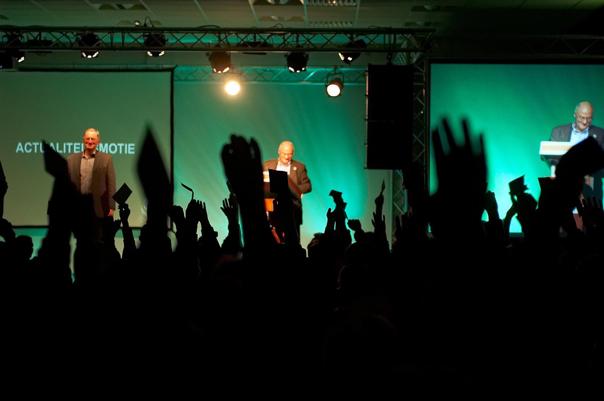 Afbeelding: Fotografie verkiezingen nieuwe voorzitter ACV Kempen.