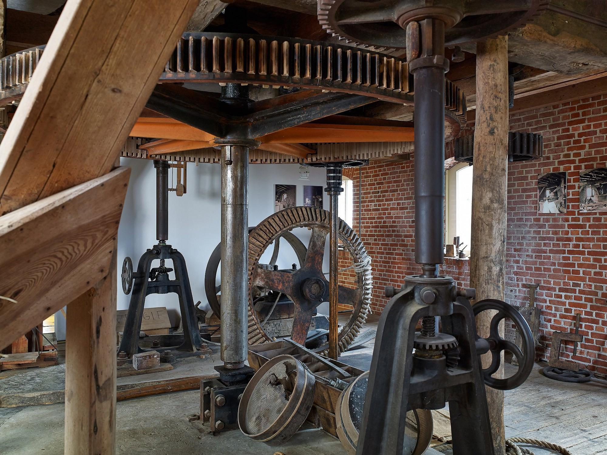 Afbeelding: Interieur fotografie renovatie technieken watermolen te Meersel-Dreef.