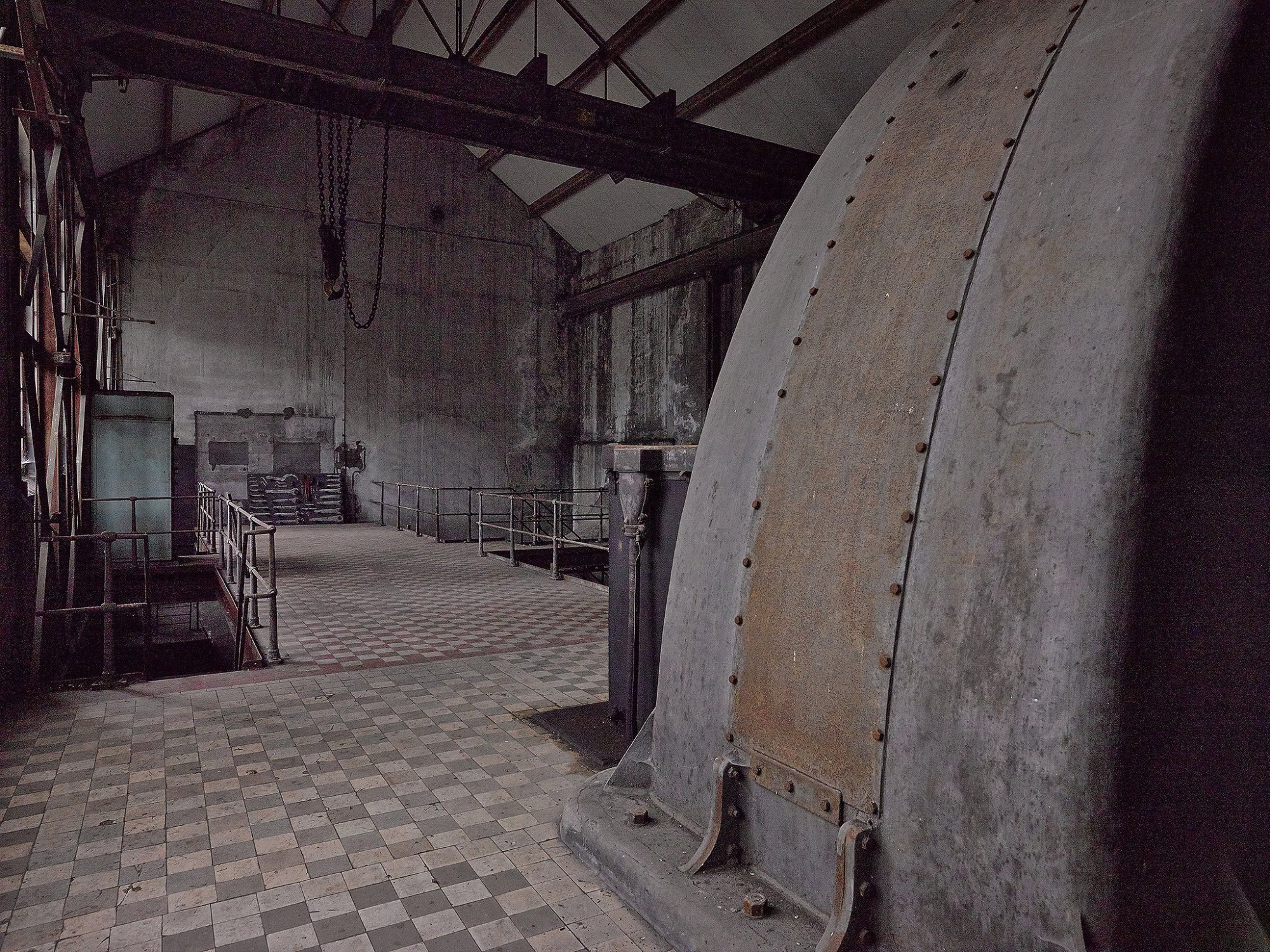 Afbeelding: Interieur fotografie renovatie electro hal B-Mine te Beringen, voor TVH Democa - Van Roey, fotografie erfgoed Foto Van Huffel.