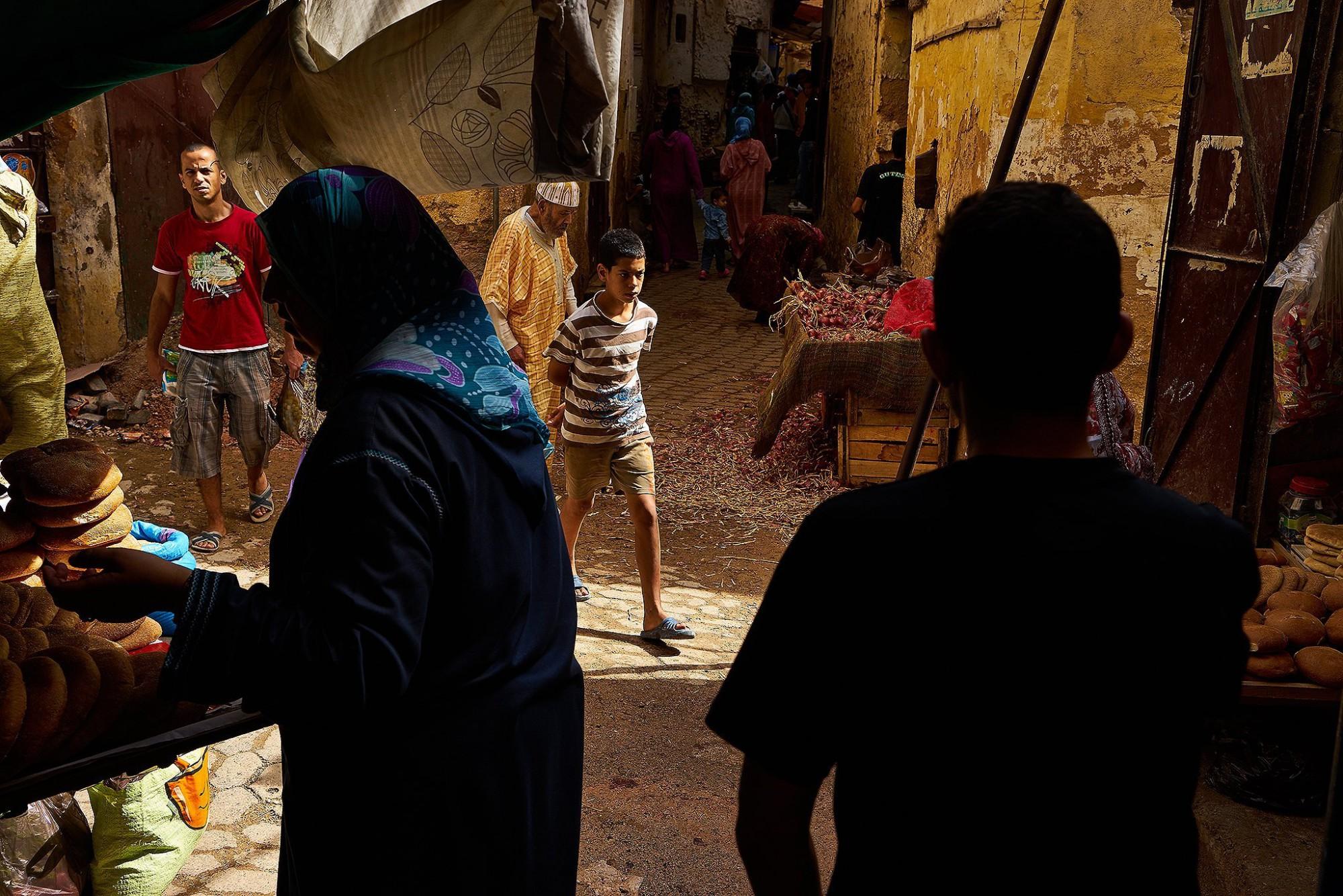 Afbeelding: Dominique Van Huffel, reisreportage, Marokko, medina Fez.