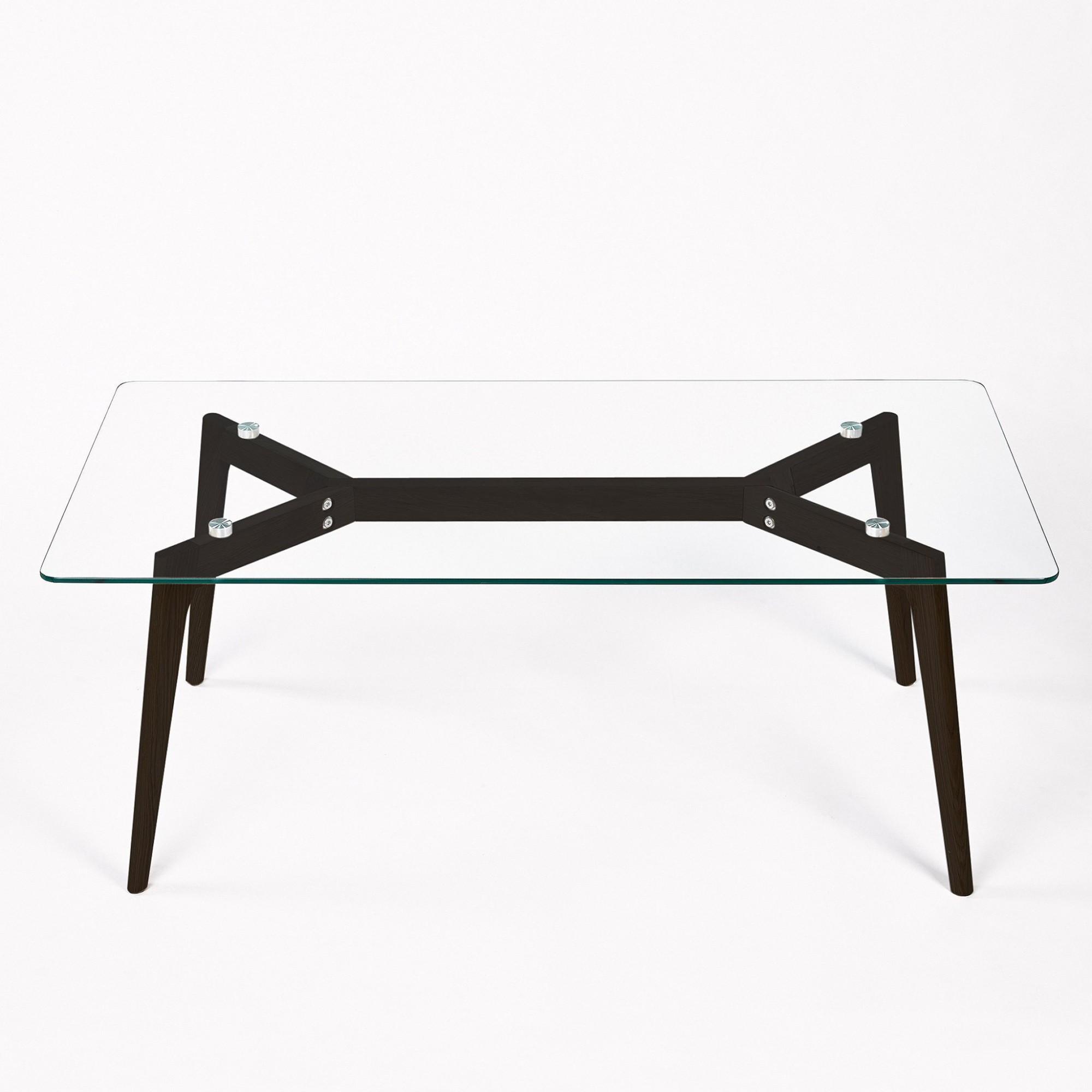 Afbeelding: Studio fotografie op locatie, fotografie meubels - glazen tafels voor Simla. Productfotograaf Foto Van Huffel.