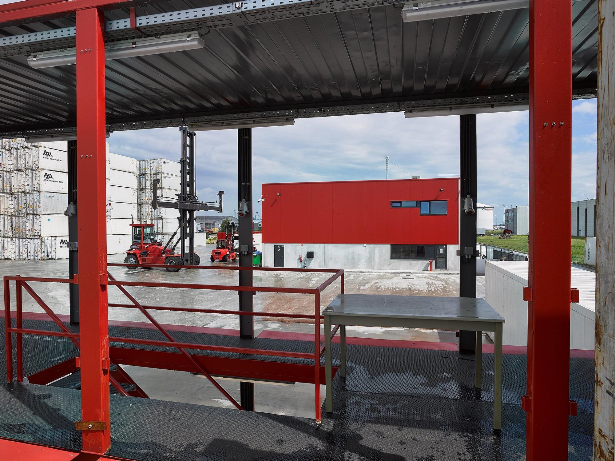 Afbeelding: Fotografie kantoor, Kallo haven Antwerpen, voor Mertens architecten.