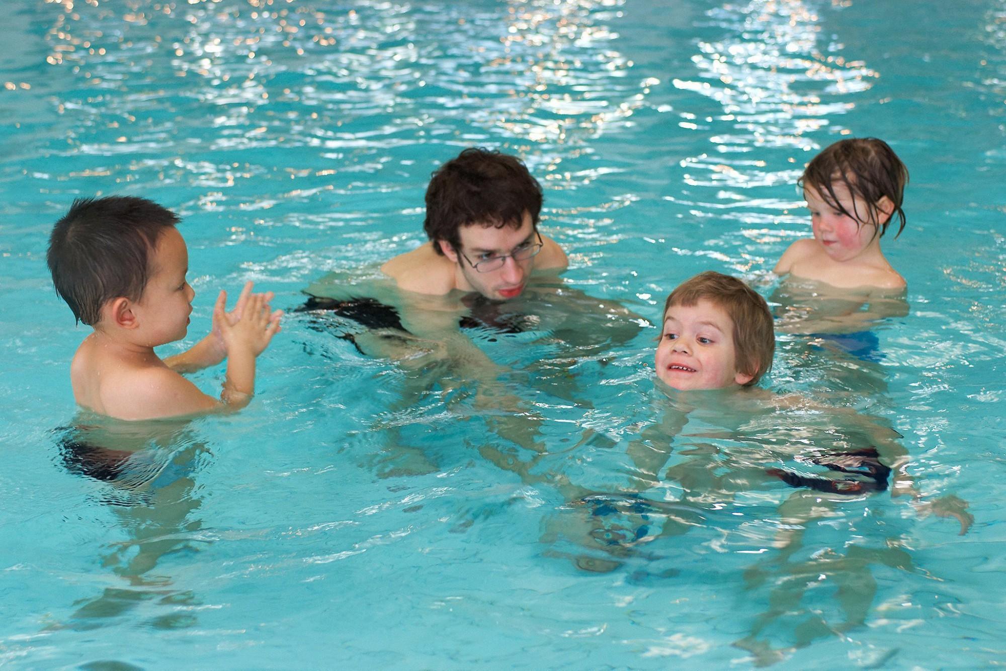 Afbeelding: Bedrijfsreportage fotografie voor Sportoase, zwembad Leuven.