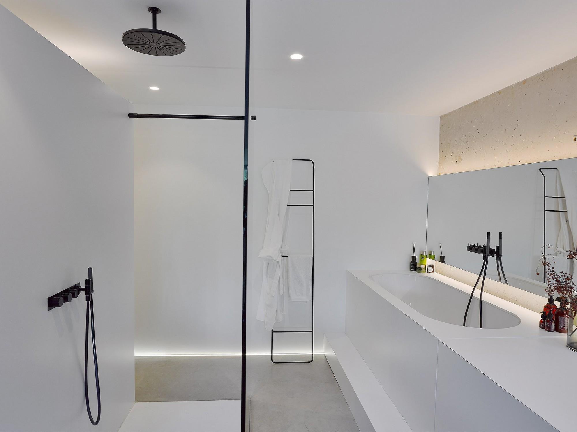 Afbeelding: Interieur fotografie badkamer voor bouwwerken Bastijns, foto Van Huffel, © icoon architect.