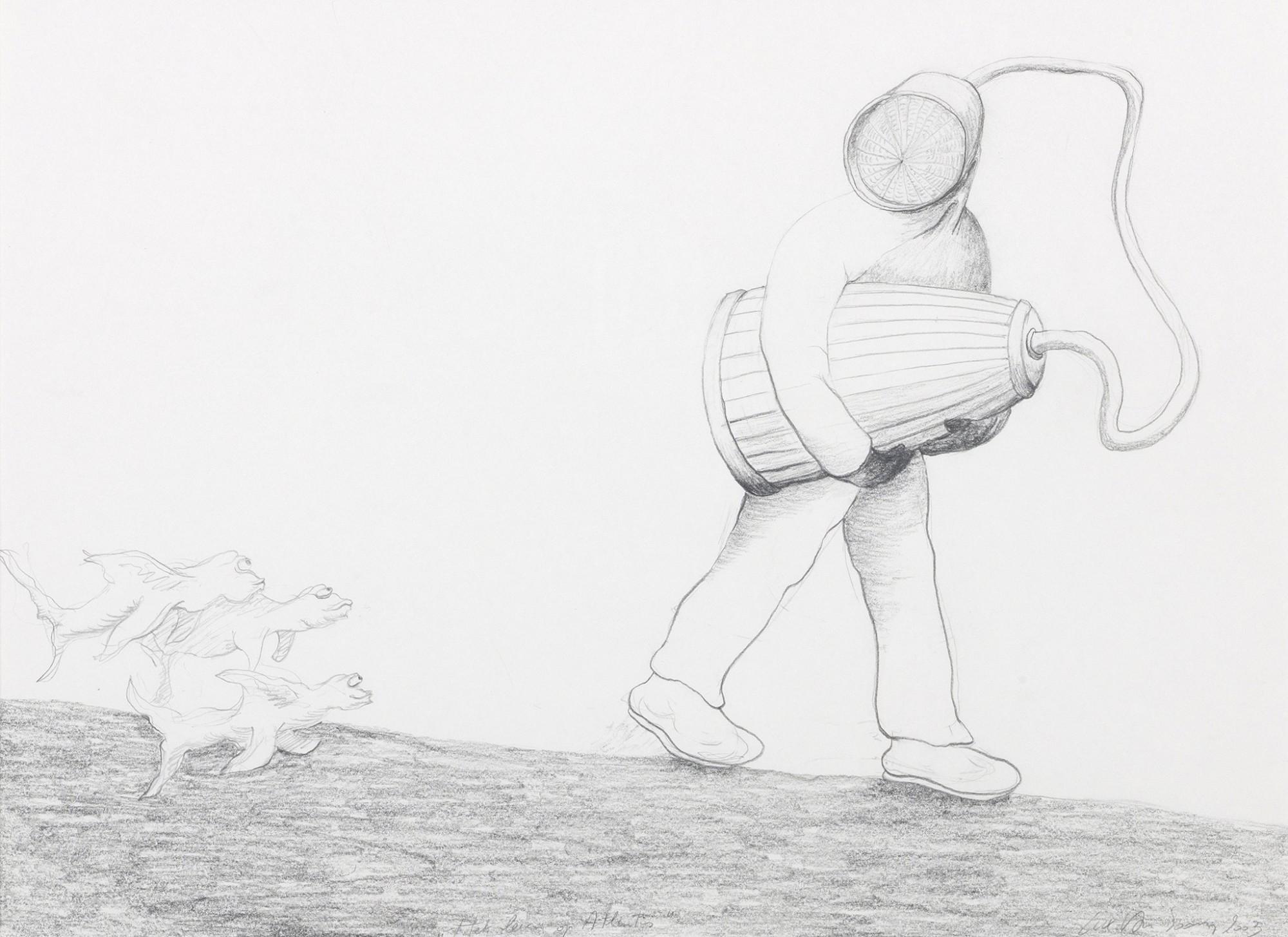 Afbeelding: Reproductie potlood tekeningen, studio fotografie.© Luk Van Soom