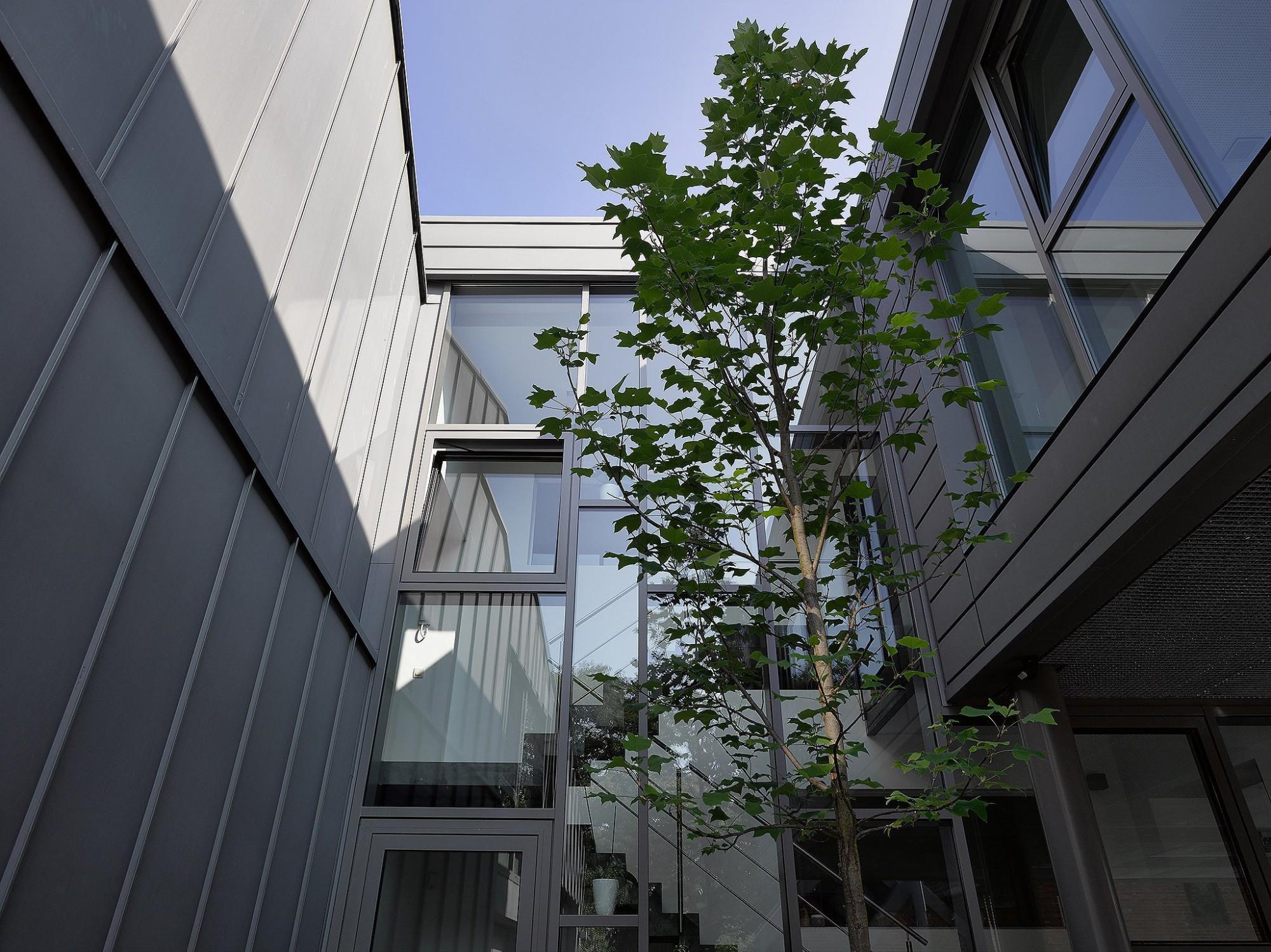 Afbeelding: Architectuur fotografie, kantoorgebouw Stabroek, voor Mertens architecten.
