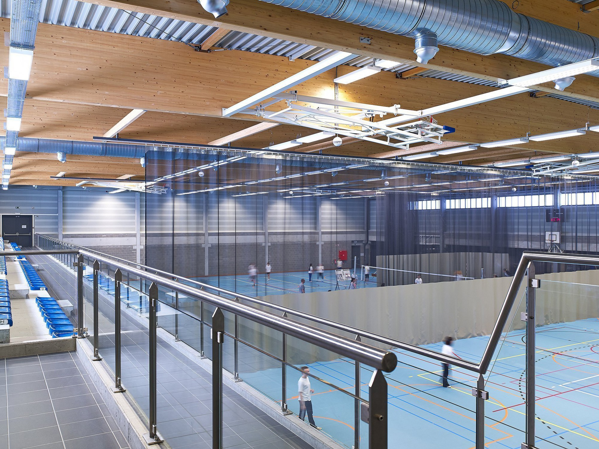 Afbeelding: Interieur fotografie sportcomplex te Mechelen, voor groep Van Roey.