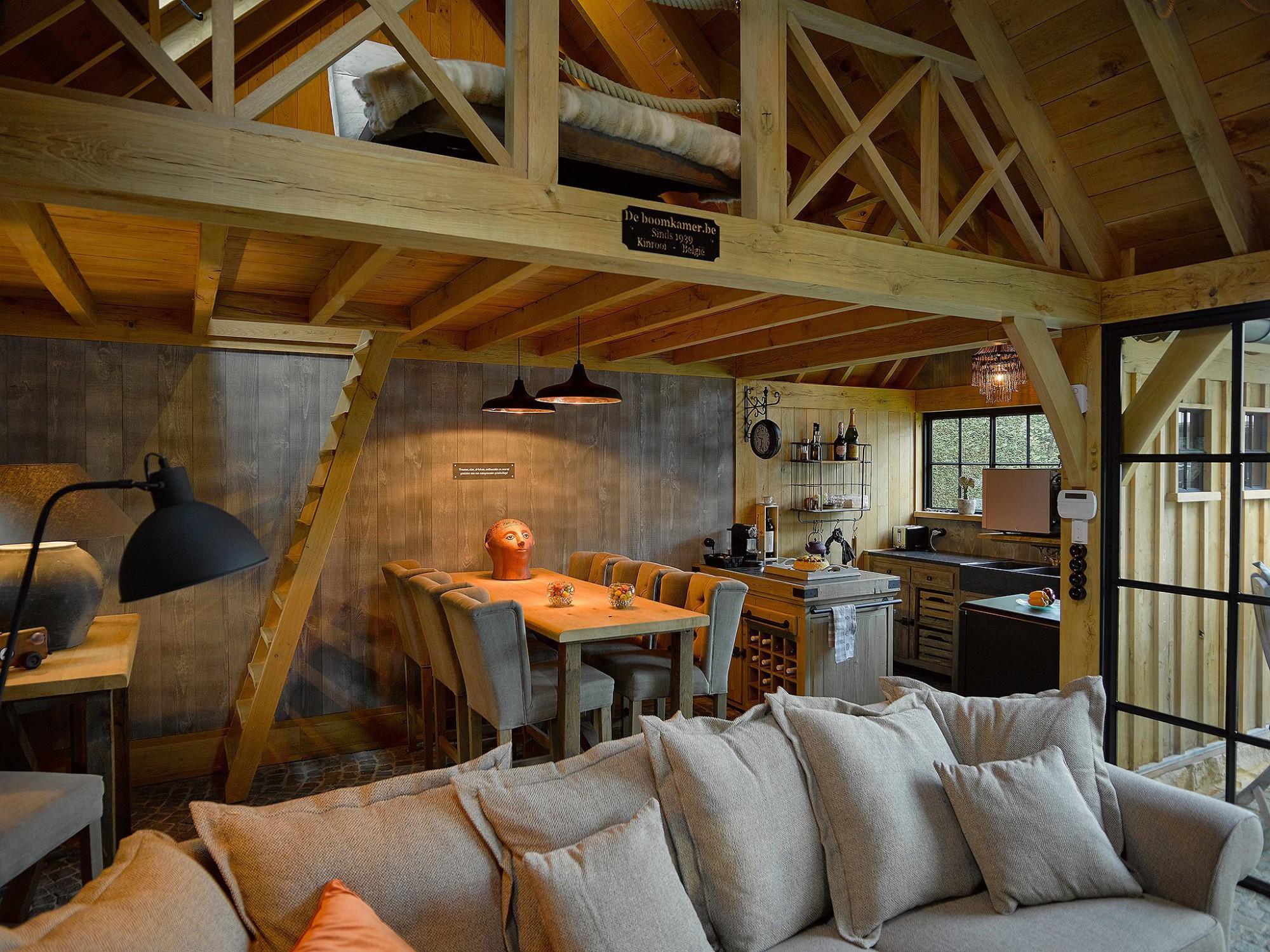 Afbeelding: Fotografie interieur eiken bijgebouwen te Heusden Zolder voor © De Boomkamer.