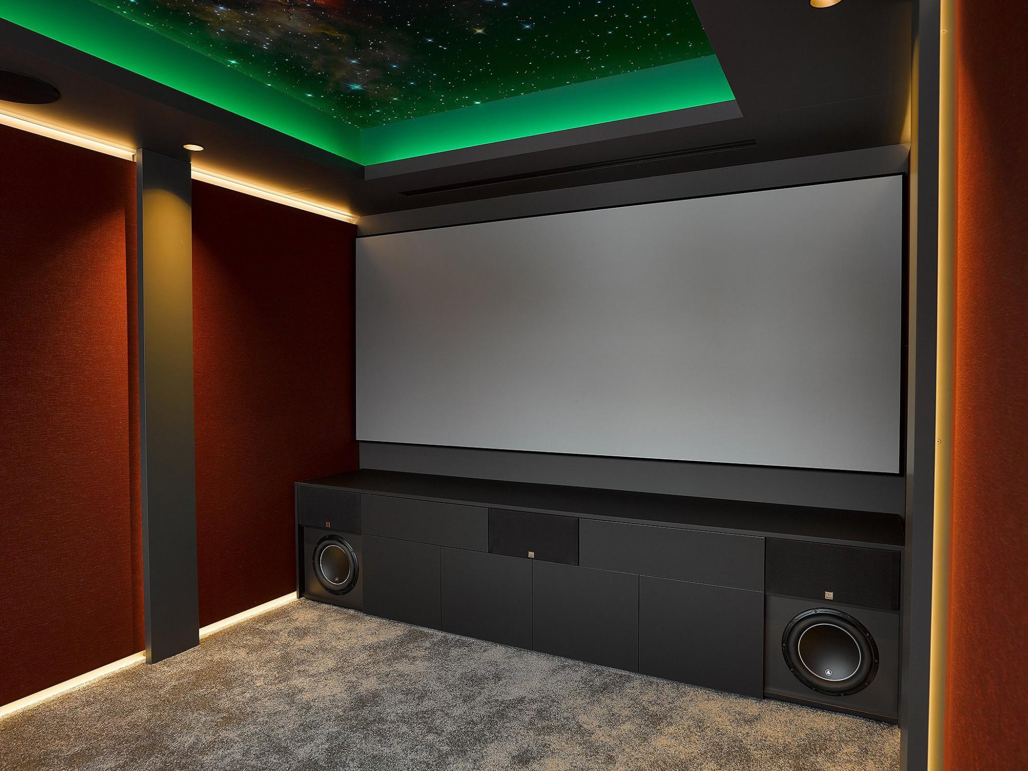 Afbeelding: Fotografie technieken voor home cinema, uitwerking-afwerking cinema, foto Van Huffel.