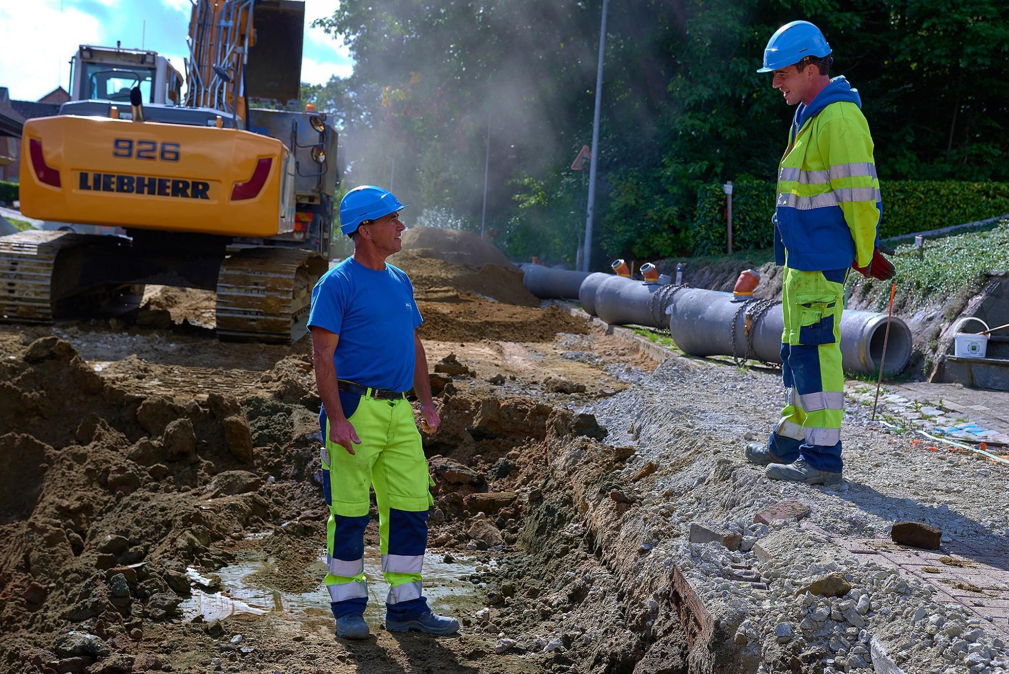 Afbeelding: Werf fotografie aanleg infrastructuur-wegenbouw voor DCA.