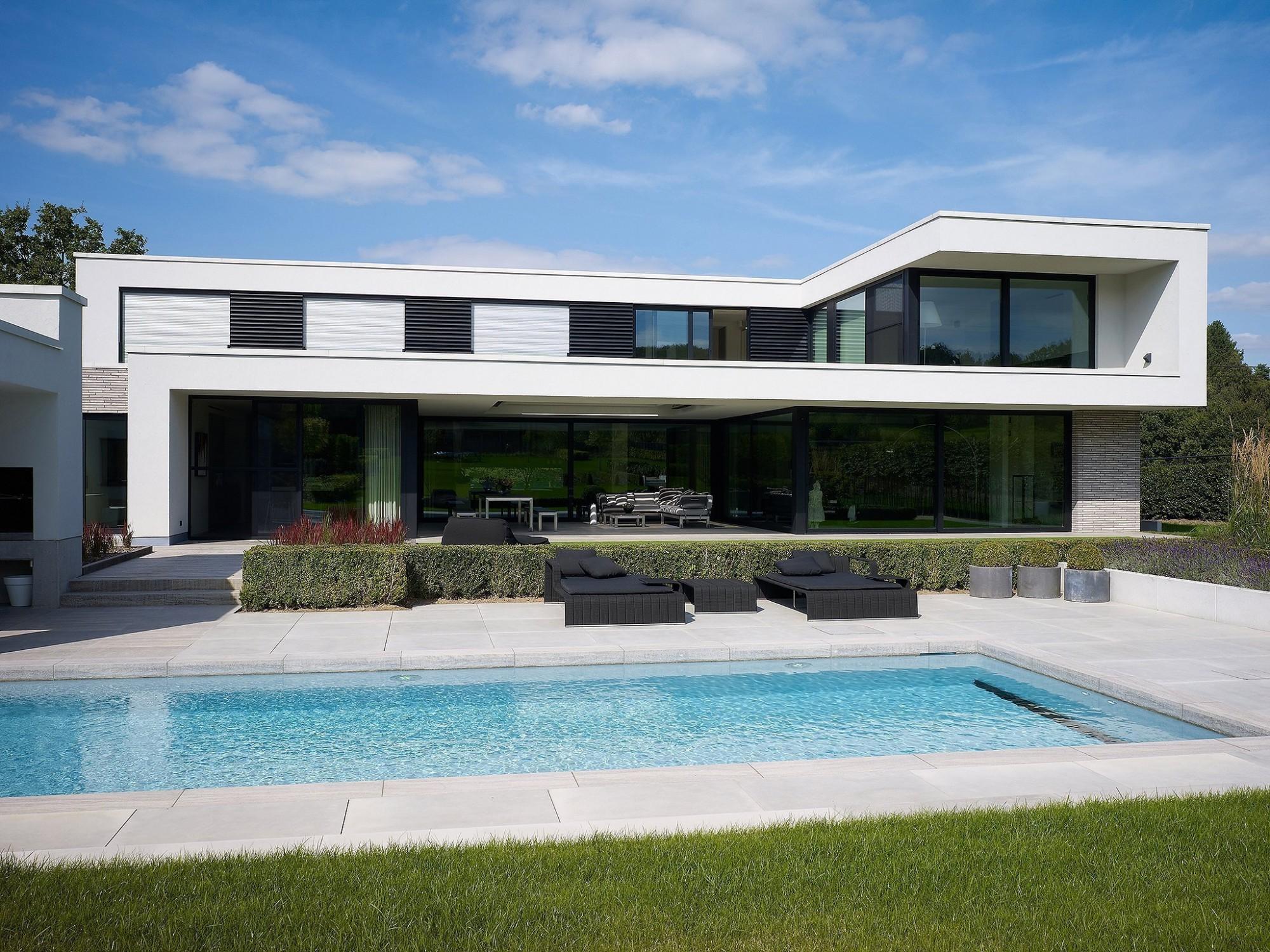Afbeelding: Architectuur fotografie, moderne woning te Schaffen, voor Stone&Style.