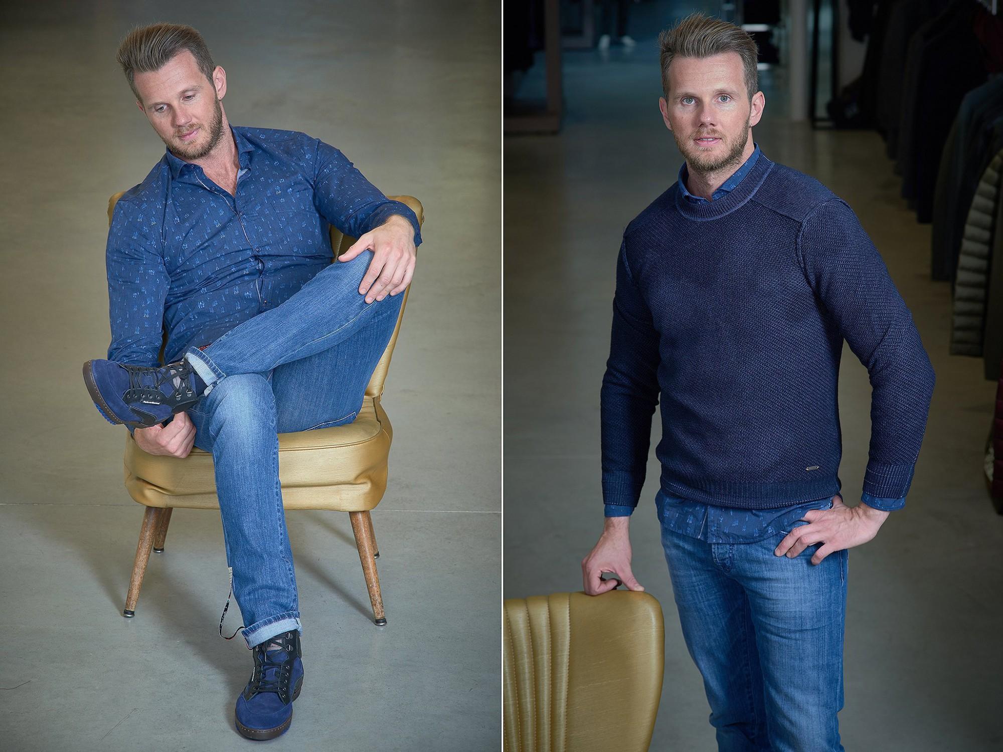 Afbeelding: Mode fotografie herenkleding foto Van Huffel, fotografie in winkel Bruurs, voor Bruurs Men.