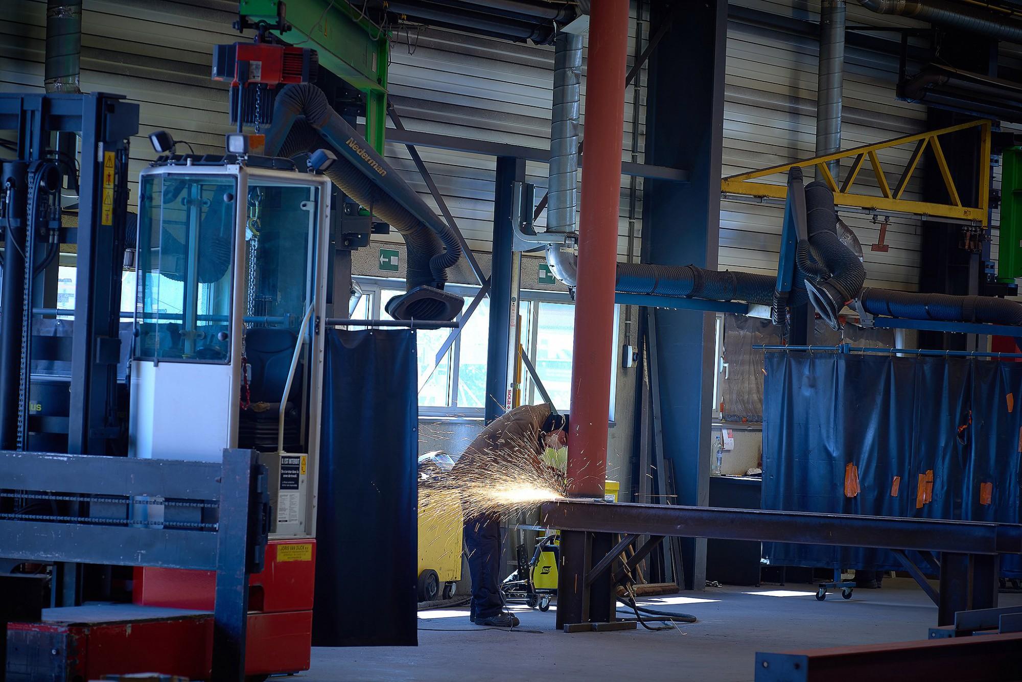 Afbeelding: Foto Van Huffel bedrijfsreportage, De Pelsmaeker Olen industriebouw.