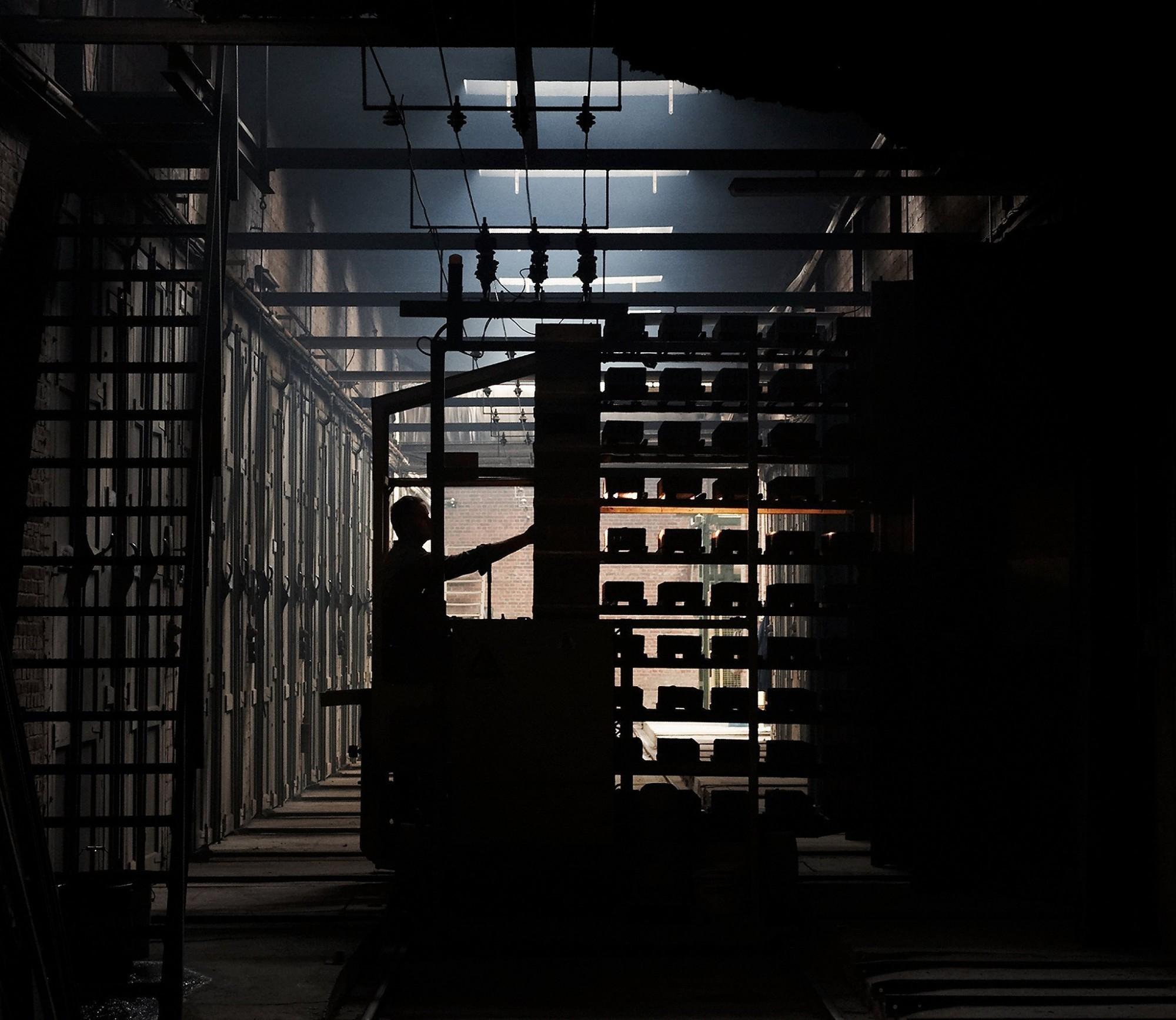 Afbeelding: Industriële reportage , droogkamers, steenbakkerij Floren.