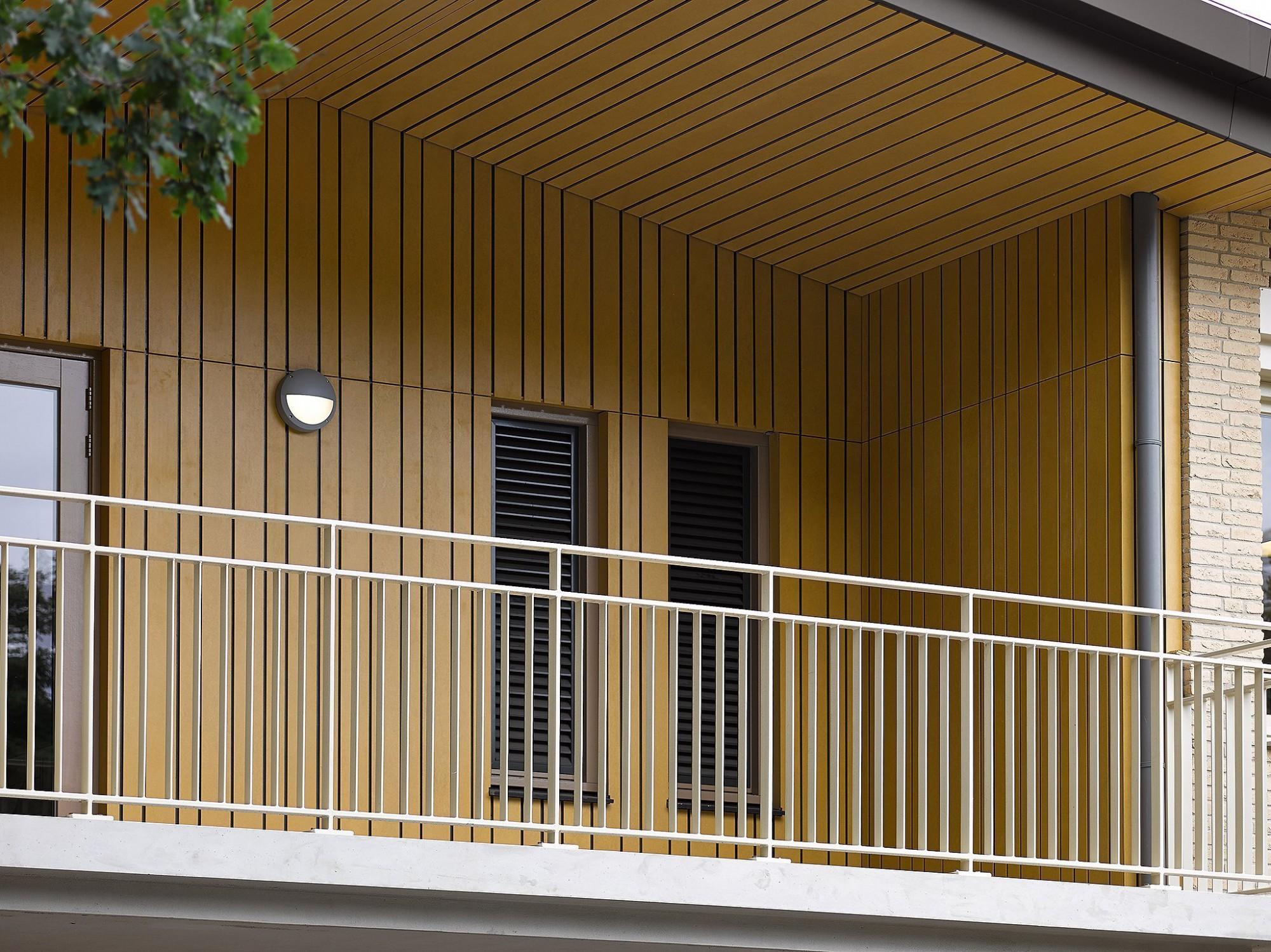 Afbeelding: Fotografie van gevelbekleding Colormat voor SVK.