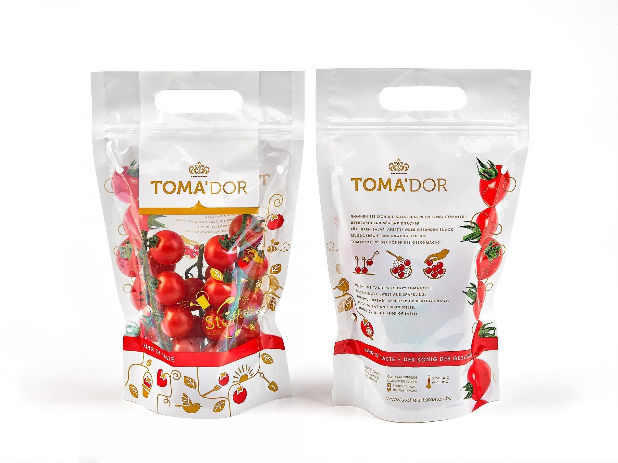 Afbeelding: Studio fotografie, packshot fotografie Foto Van Huffel, fotografie tomaten voor Stoffels tomaten.