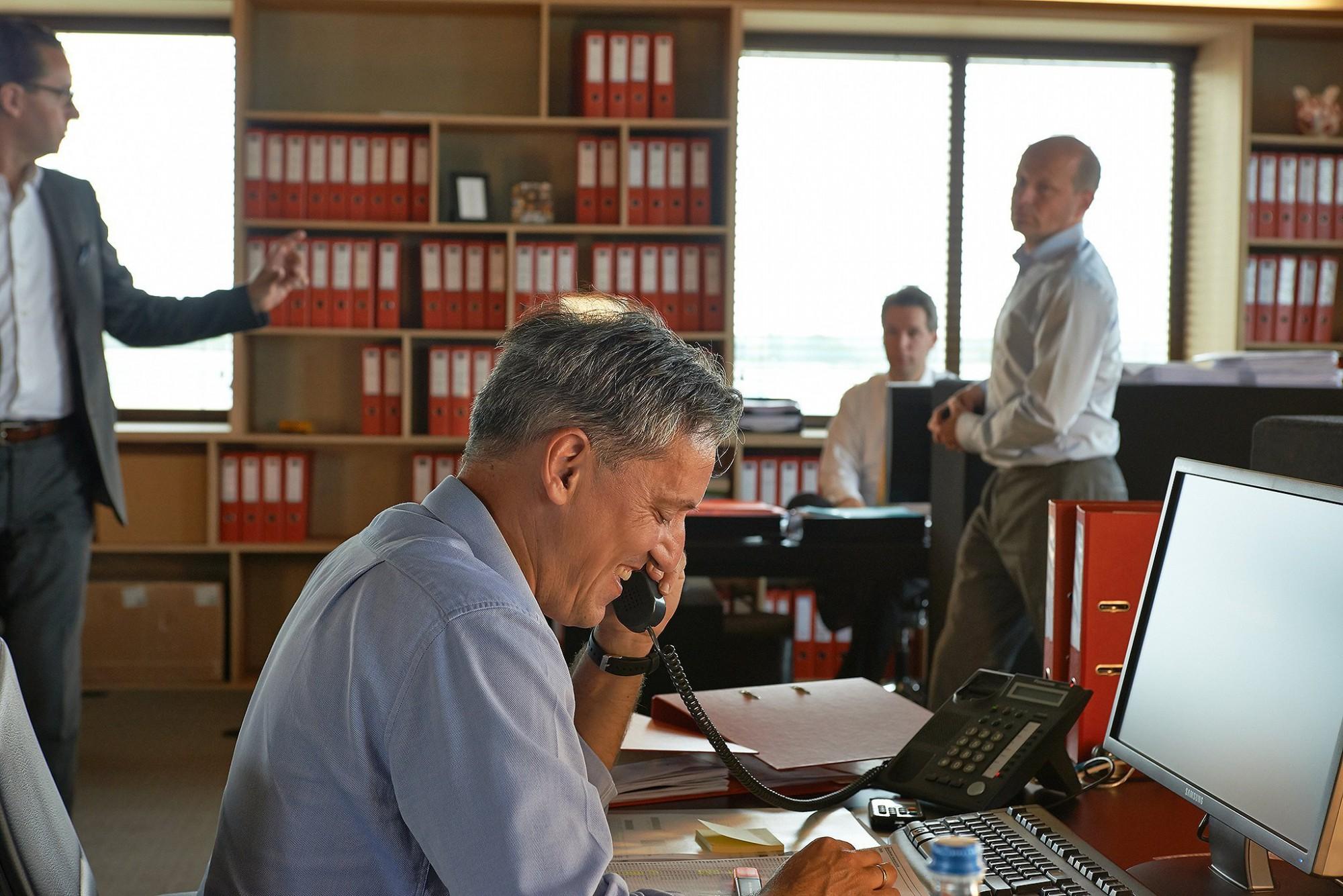 Afbeelding: Bedrijfs reportage voor groep Heylen te Herentals, personeel op bureau Herentals.
